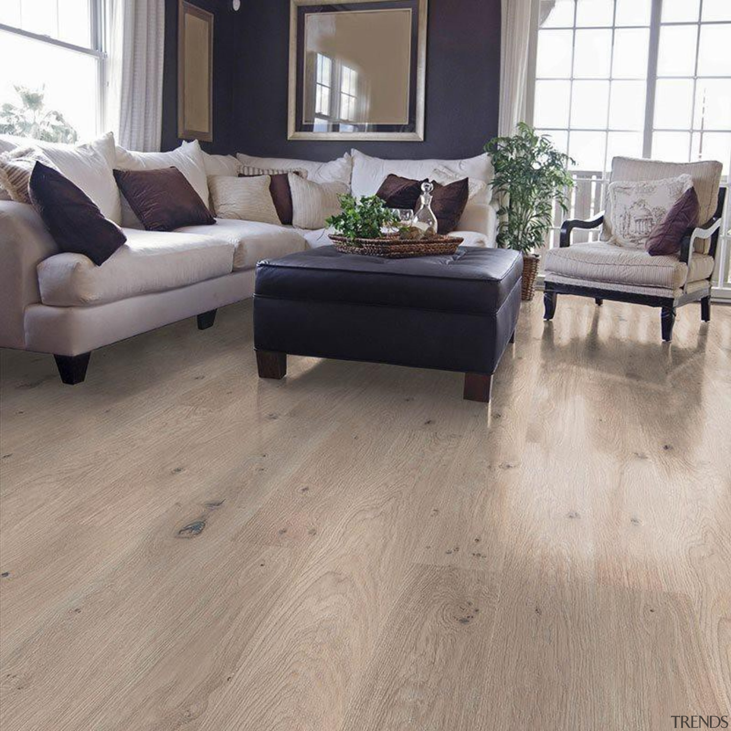 """""""Neo by Classen"""" introduces a new generation of coffee table, floor, flooring, furniture, hardwood, home, interior design, laminate flooring, living room, table, tile, wood, wood flooring, wood stain, gray"""