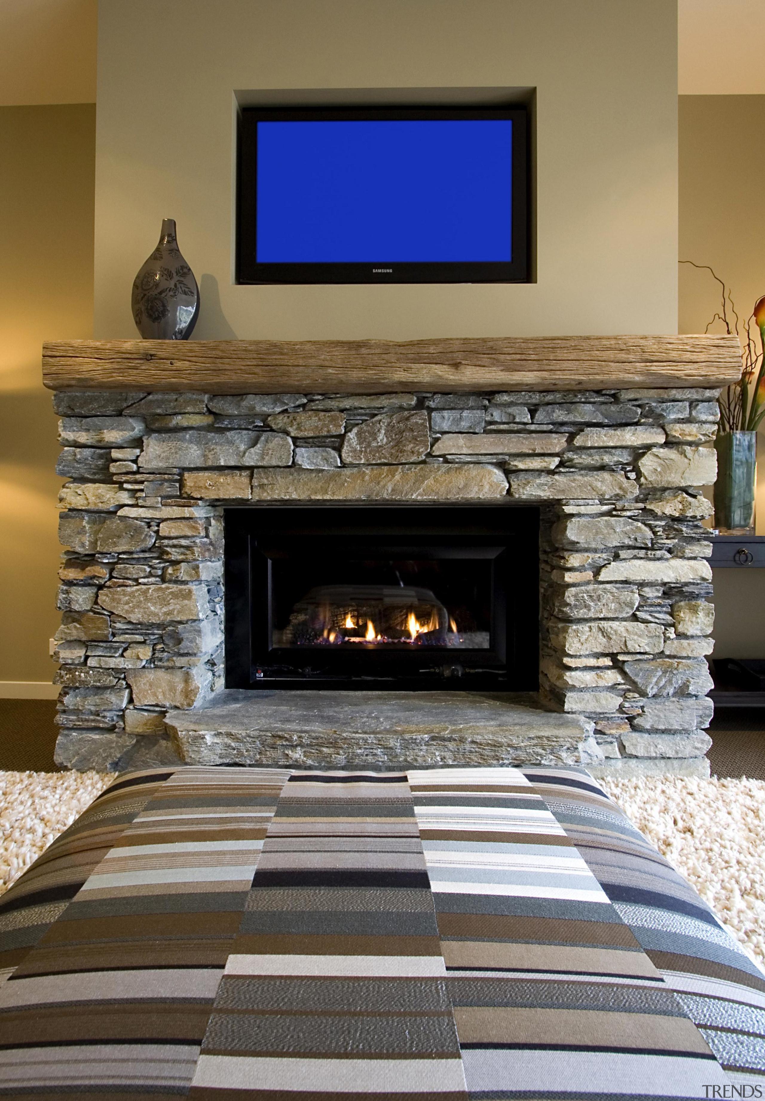 Natural colors lounge in Wakatipu - Landmark Living fireplace, floor, flooring, hearth, home, interior design, living room, gray, brown