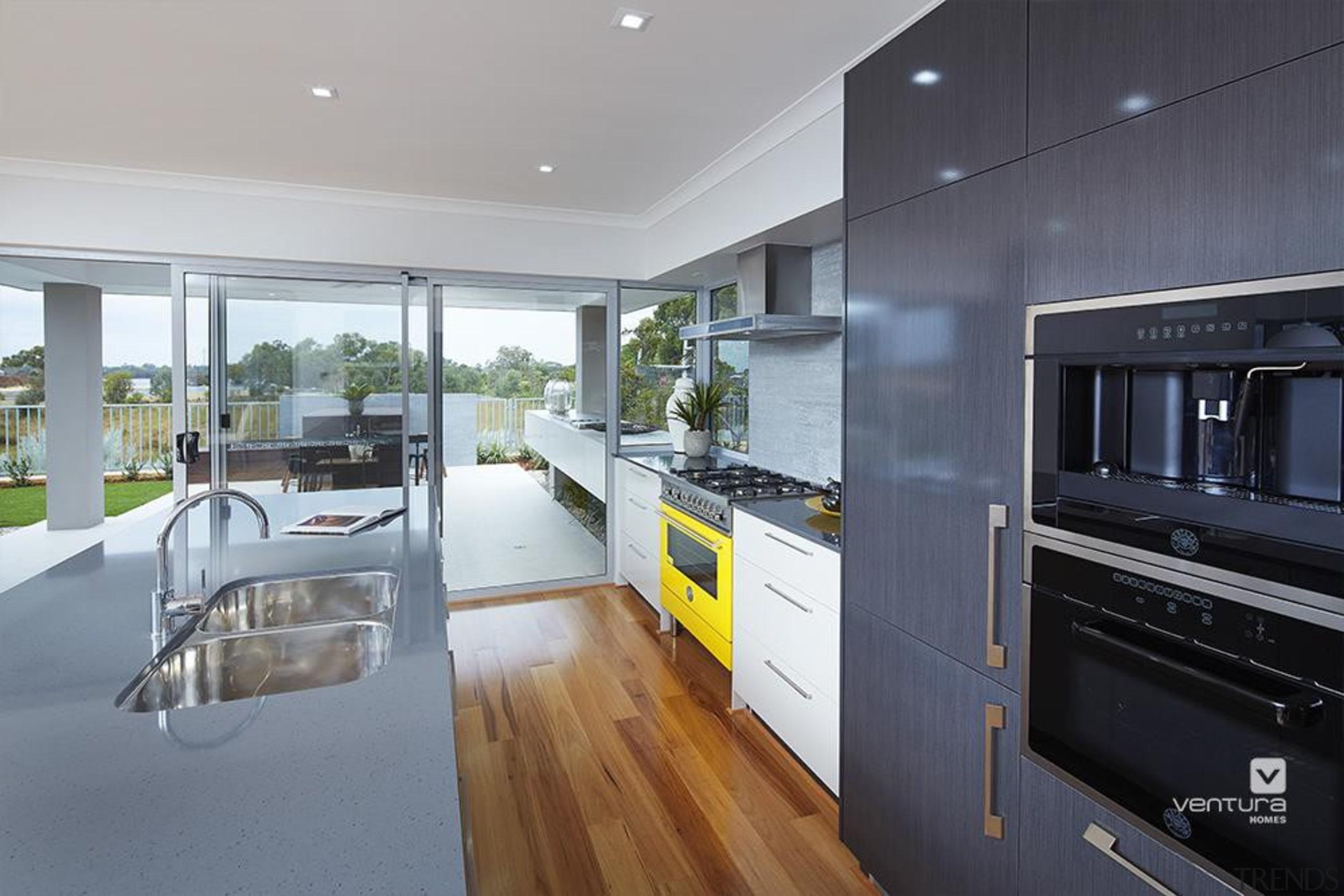 Kitchen design. - The Monterosso Two Storey Display architecture, countertop, house, interior design, kitchen, real estate, gray