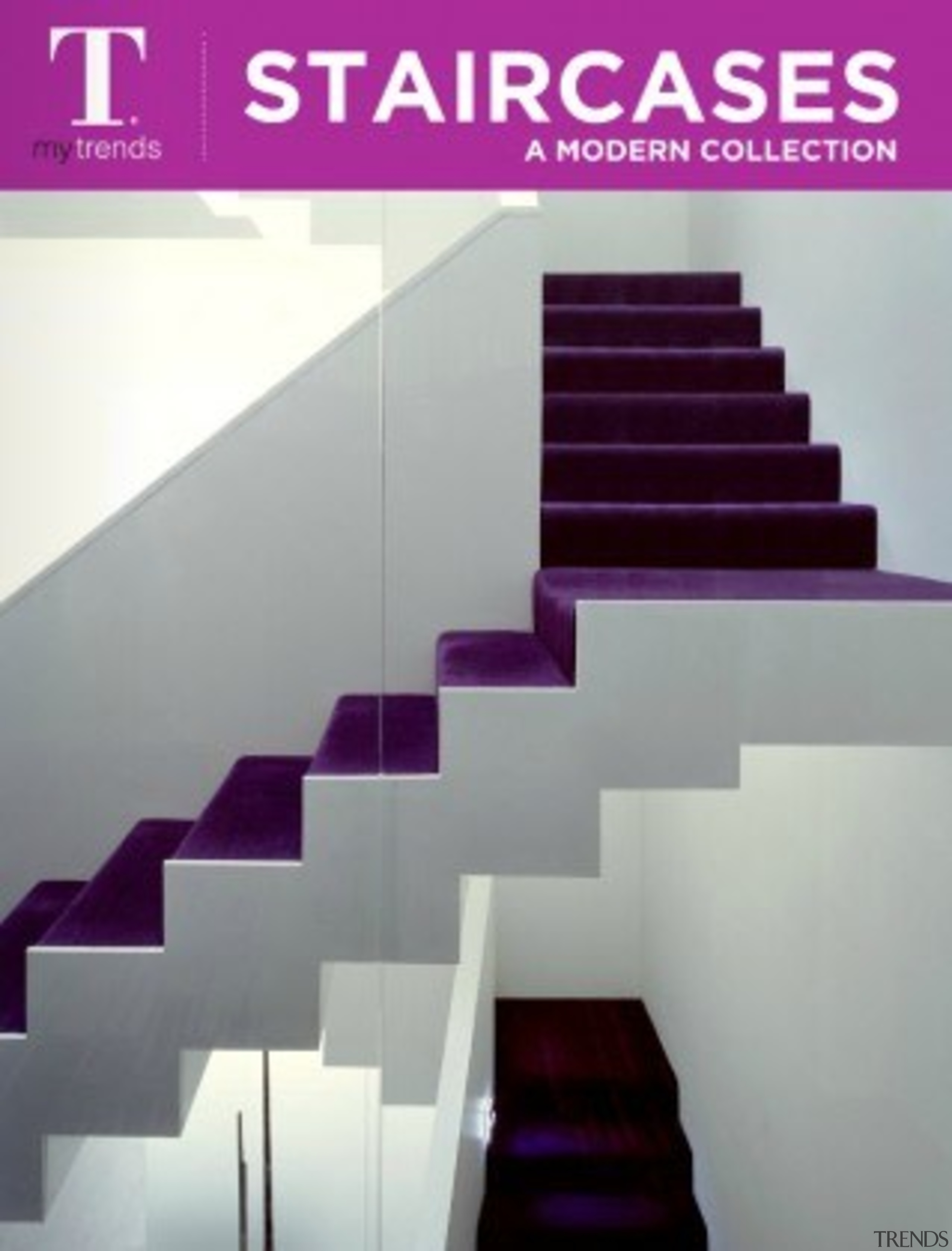 Modern Staircases architecture, purple, stairs, gray