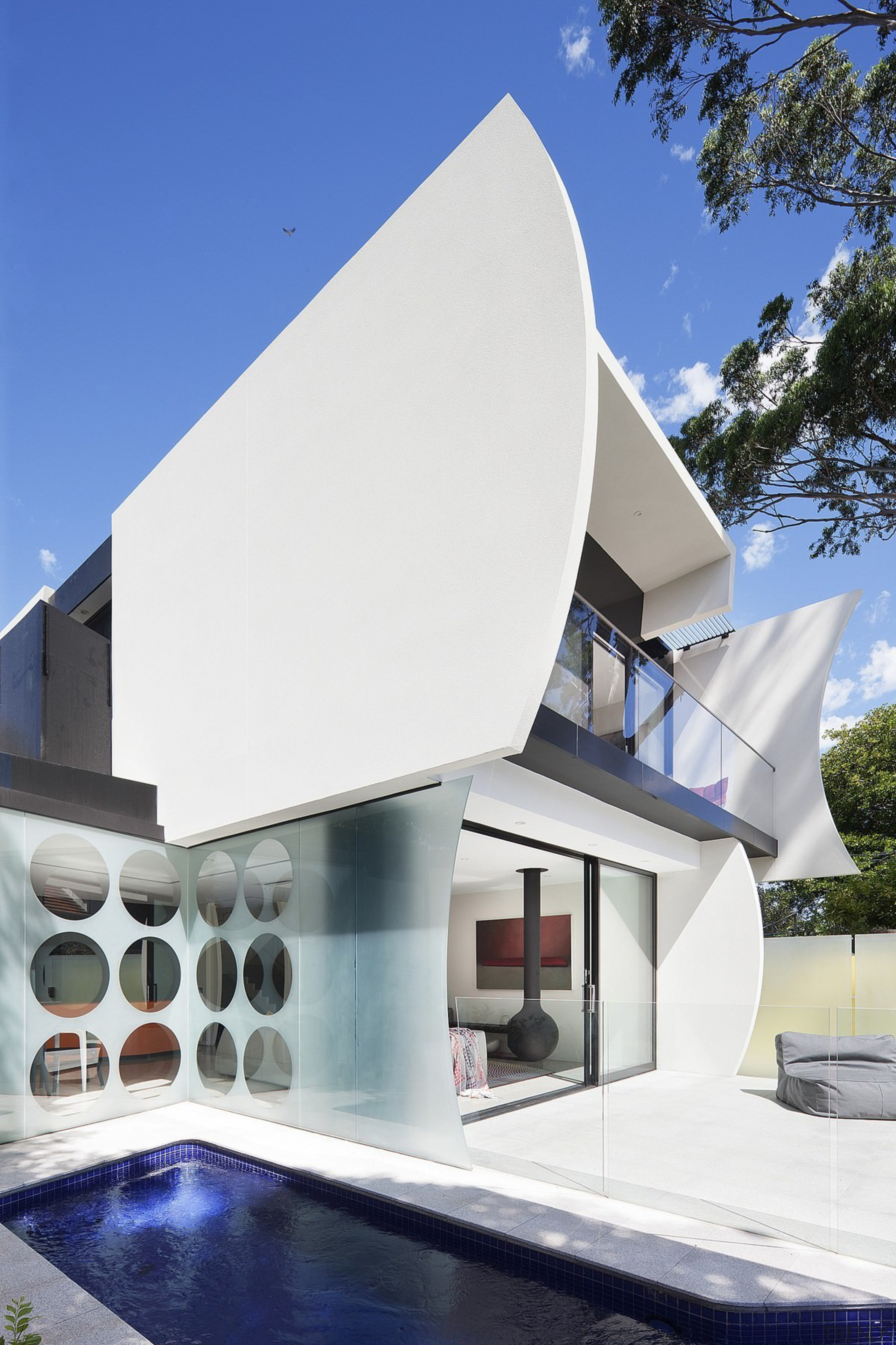 Architect: Gray PuksandPhotography by Shannon McGrath architecture, building, daylighting, facade, home, house, property, white, blue