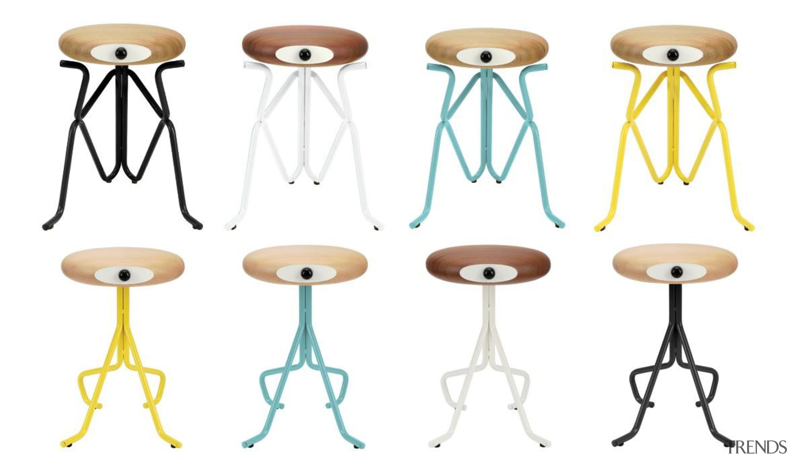 Don't be mistaken, you're not looking at characters font, furniture, line, product, product design, stool, table, white