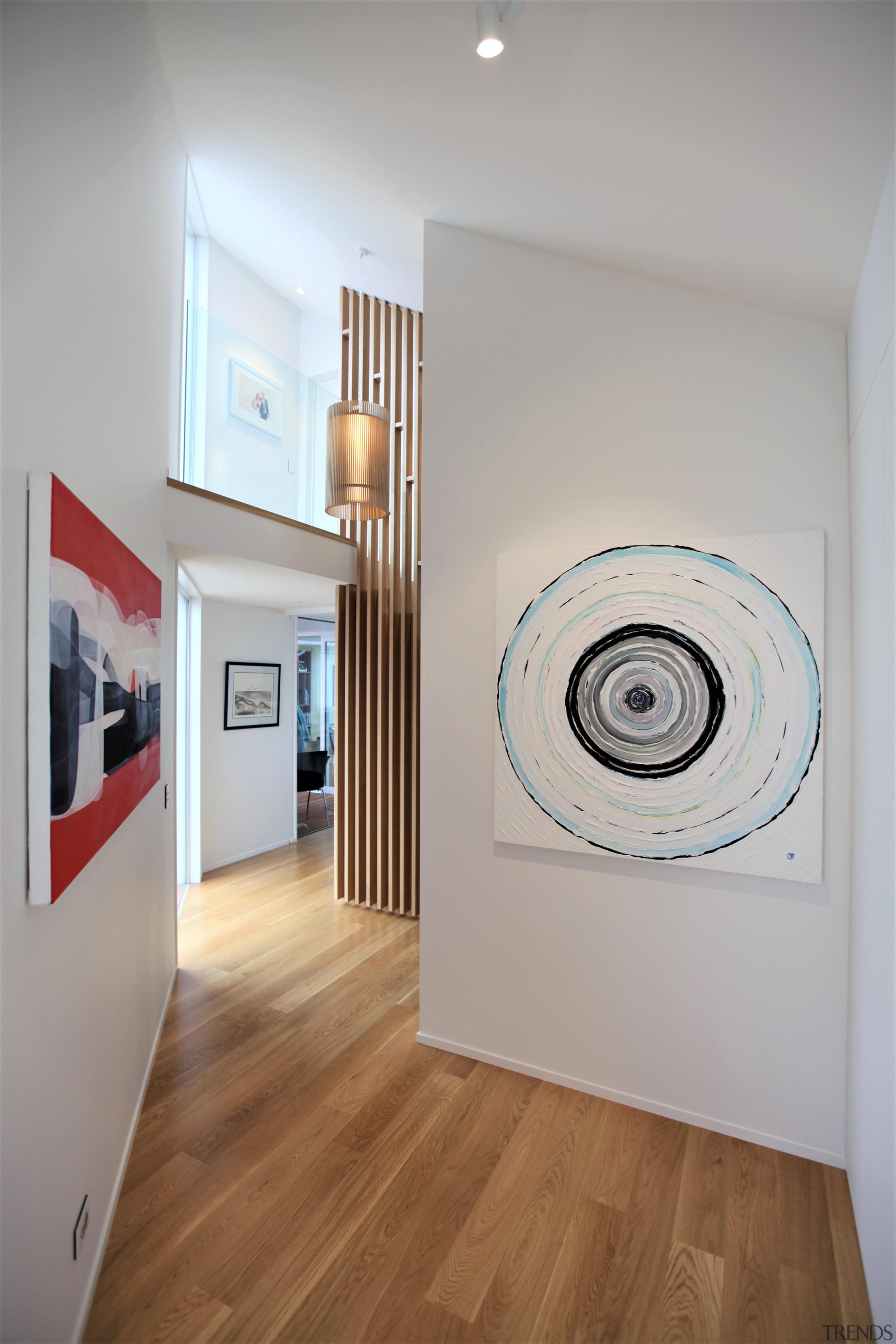 The home's circulation corridor also serves as a