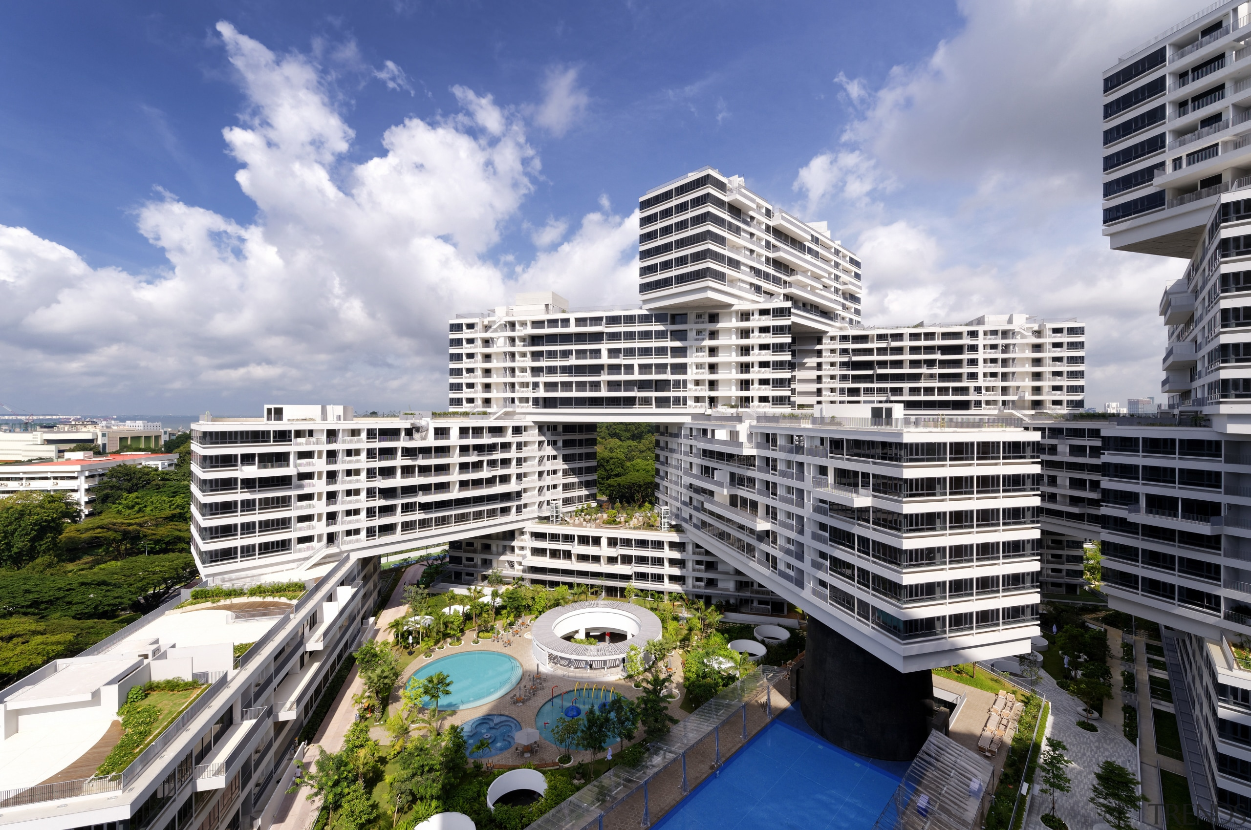The Interlace stacked apartment blocks, residential architecture for apartment, architecture, building, city, commercial building, condominium, corporate headquarters, daytime, headquarters, metropolis, metropolitan area, mixed use, neighbourhood, property, real estate, residential area, sky, tower block, urban area, urban design, gray