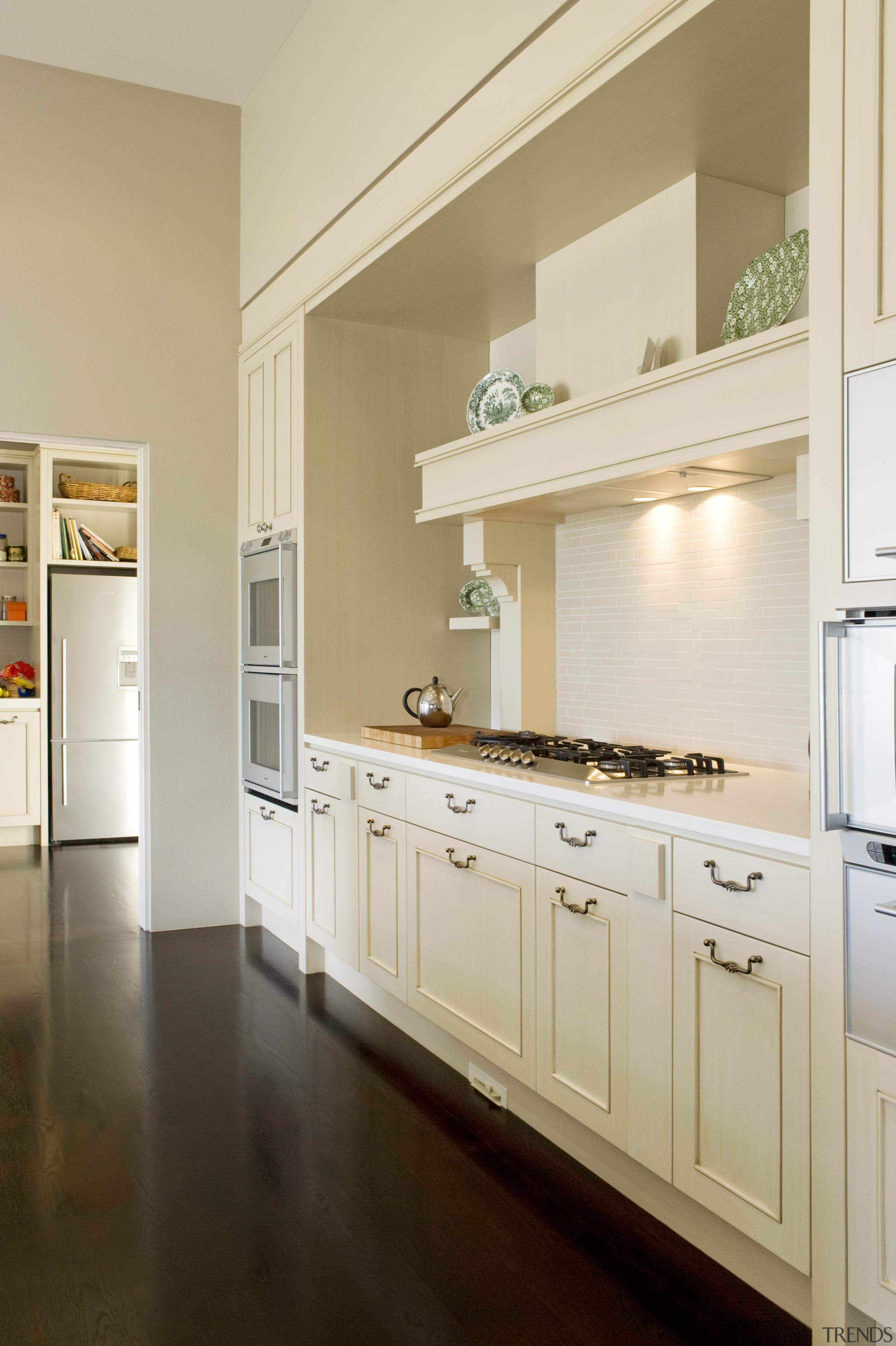 Karaka - cabinetry | countertop | cuisine classique cabinetry, countertop, cuisine classique, floor, home, home appliance, interior design, kitchen, room, gray, brown