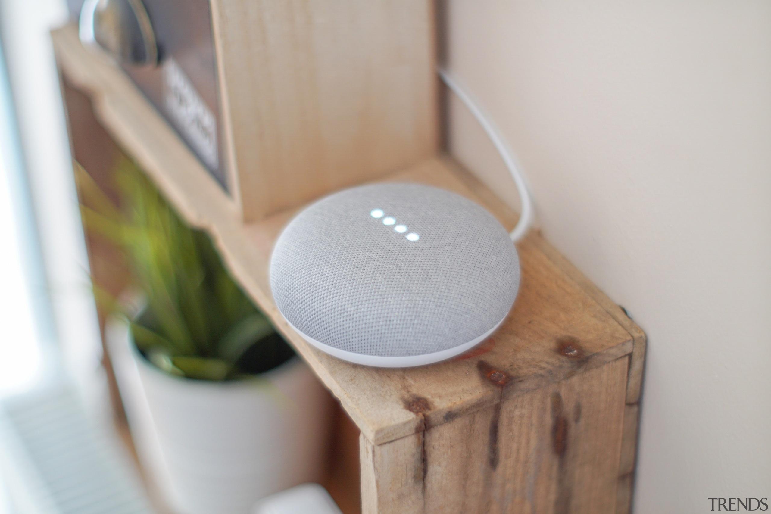 Google Assistant smart speaker - furniture | wood furniture, wood, gray