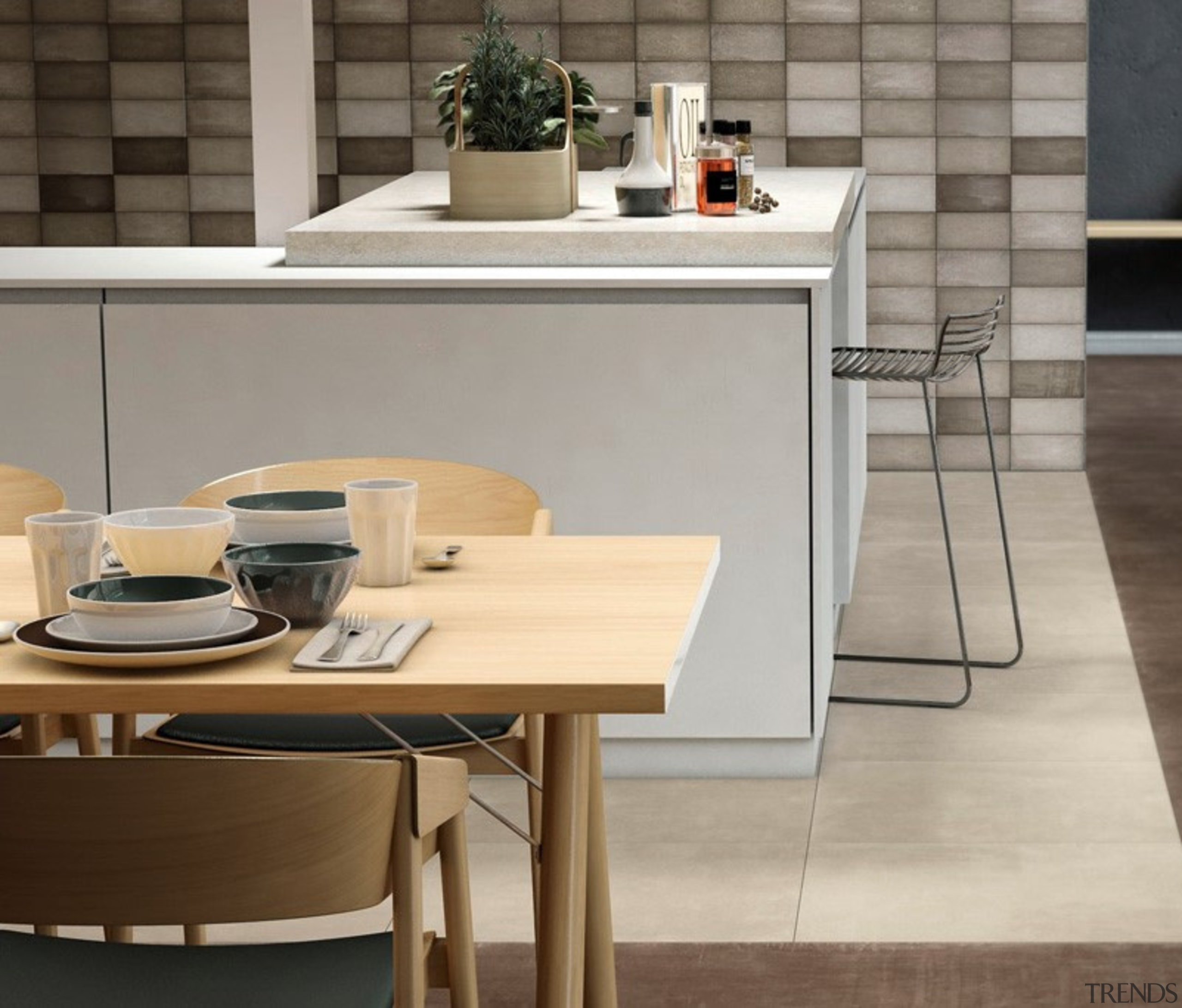 Quayside Brown 100x200 - countertop | floor | countertop, floor, flooring, furniture, interior design, kitchen, table, gray
