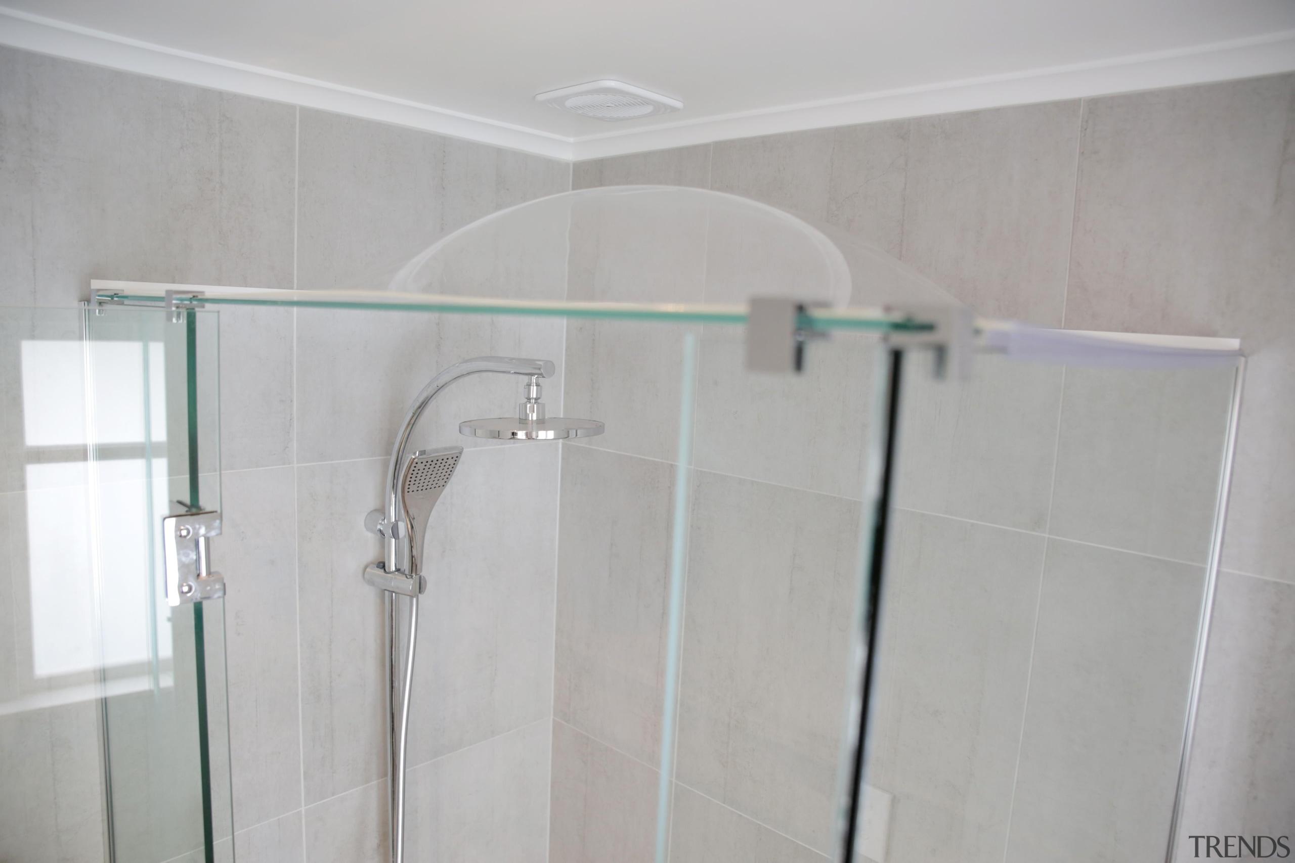 6.jpg - bathroom   glass   plumbing fixture bathroom, glass, plumbing fixture, product, product design, property, room, shower, tap, tile, gray