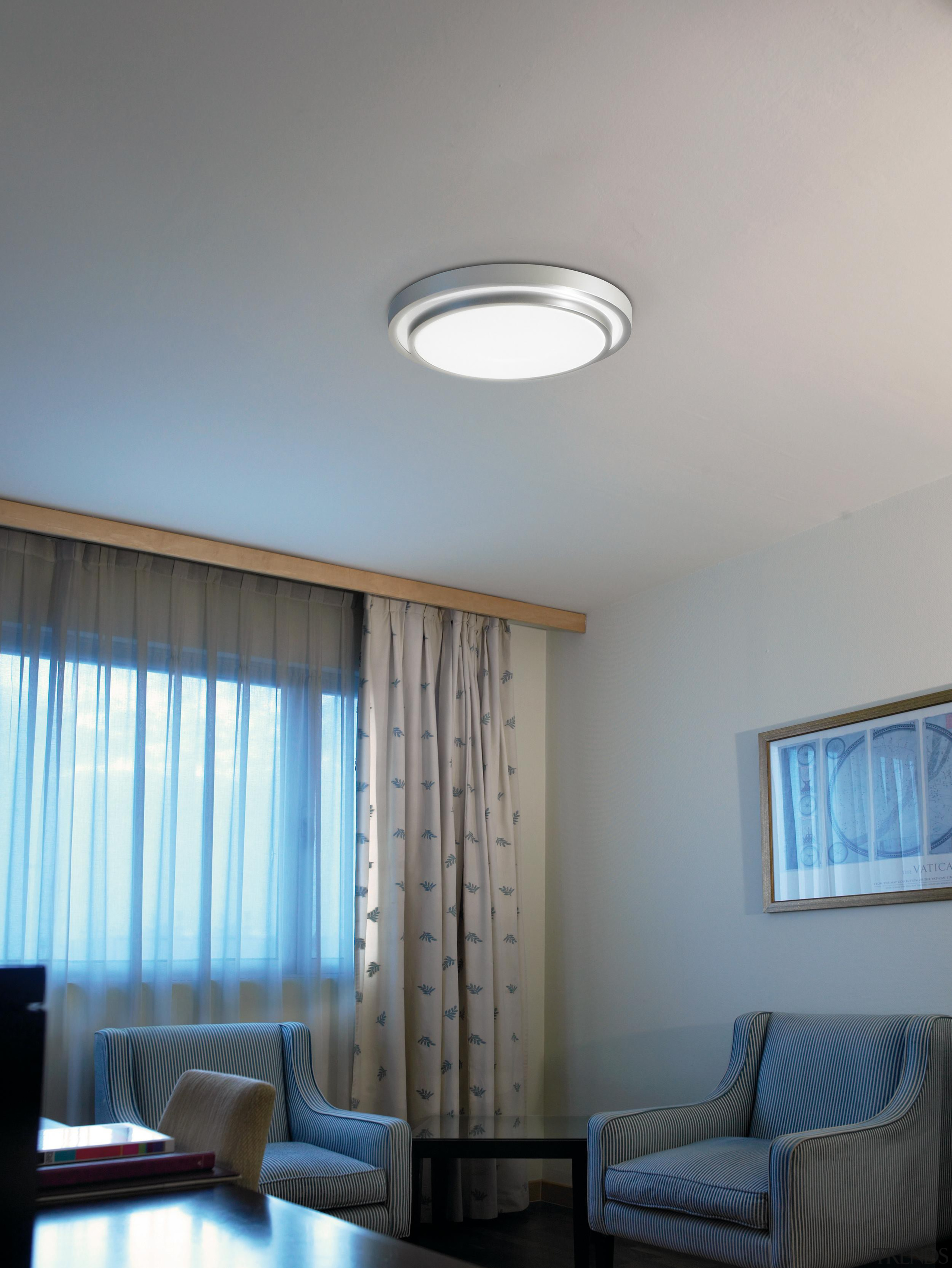 Round from La Creu, Spain - Ceiling Lights ceiling, daylighting, home, interior design, light fixture, lighting, living room, property, real estate, room, wall, window, window covering, gray