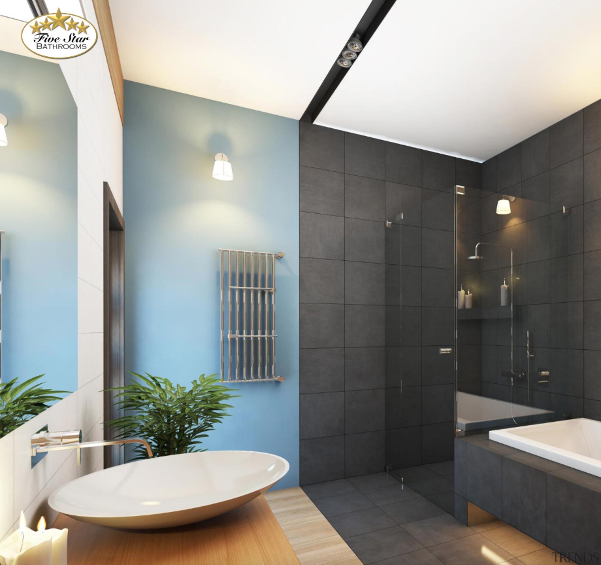 Bathroom by Five Star Bathrooms bathroom, ceiling, home, interior design, room, tile, wall, white, black