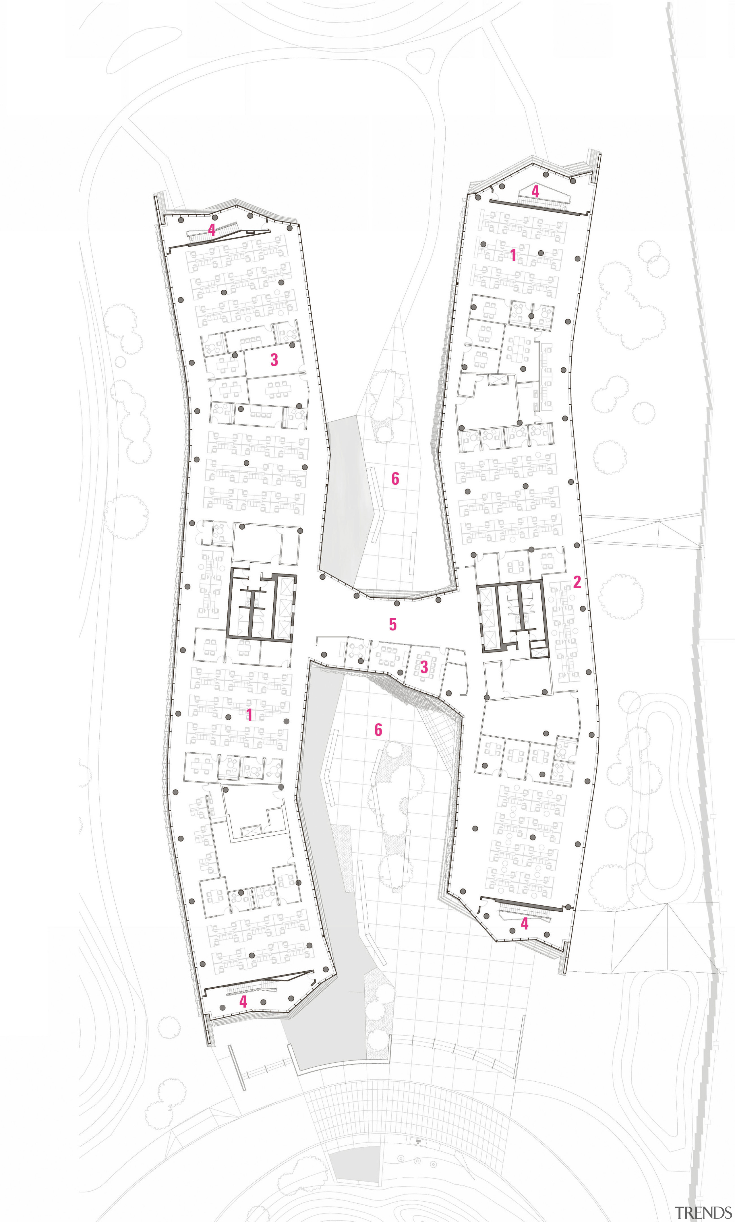 Plan of the FBIs new building in Florida, area, design, drawing, floor plan, font, line, pattern, plan, product, product design, white