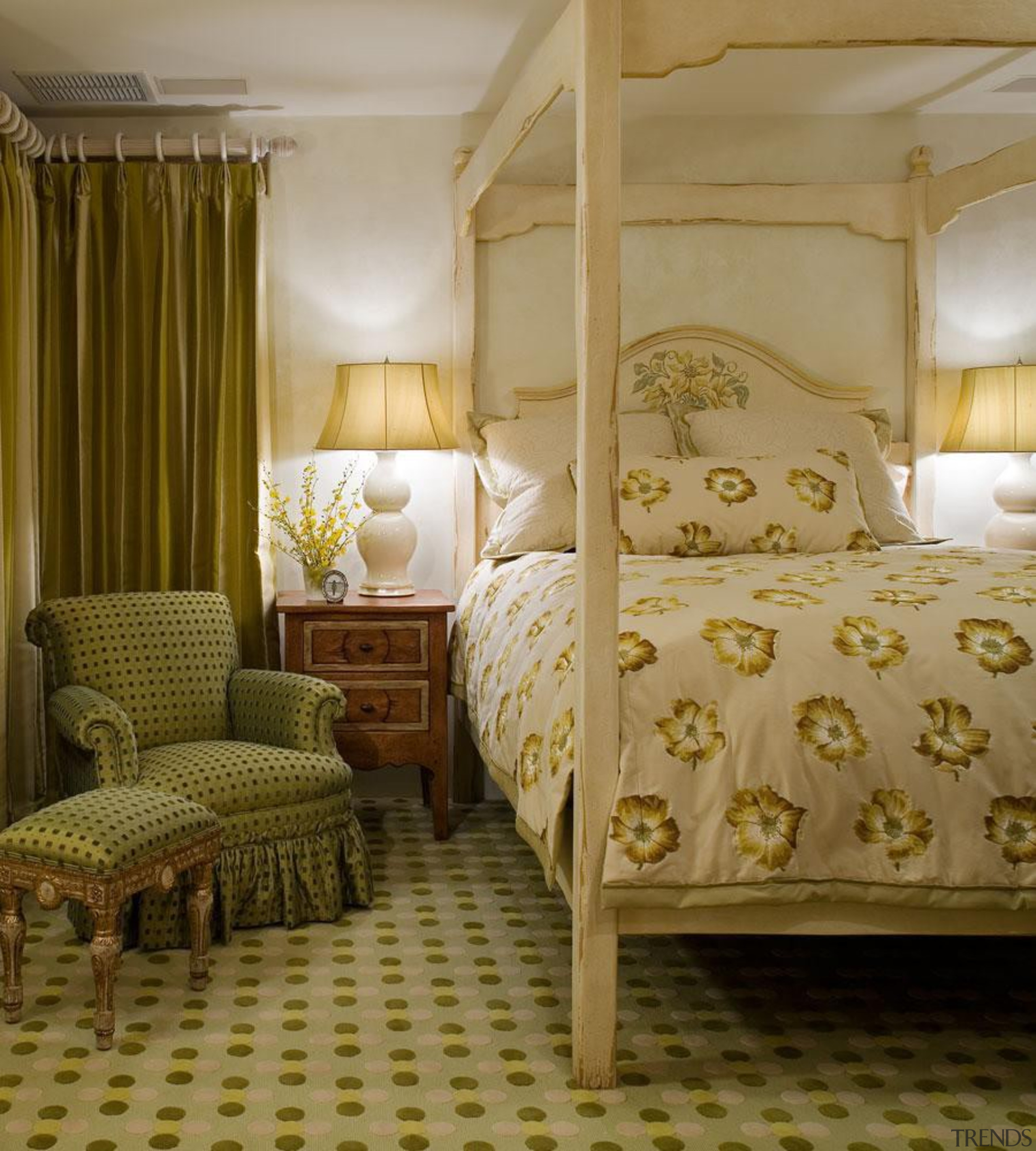 Our aesthetic is characterized by diversity and unified bed, bed frame, bedding, bedroom, ceiling, curtain, floor, furniture, home, interior design, room, suite, textile, wall, window, window treatment, brown