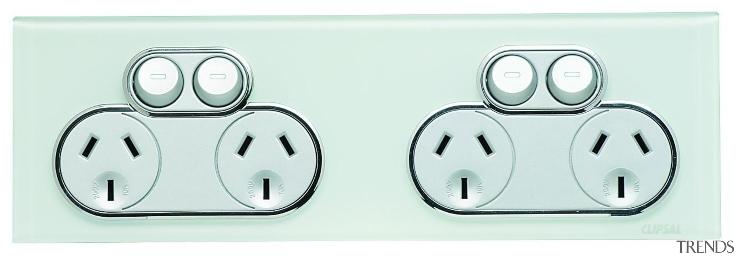 Saturn 250V quad socket Ocean mist - 4025H2-OM product, technology, white