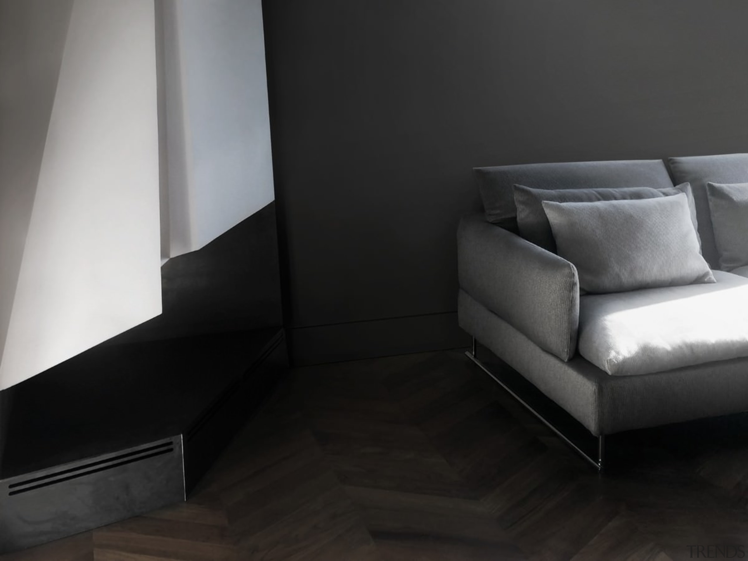 Architect: Tisselli Studio ArchitettiPhotography by Filippo Tisselli angle, chair, chaise longue, couch, floor, flooring, furniture, interior design, living room, product design, sofa bed, black