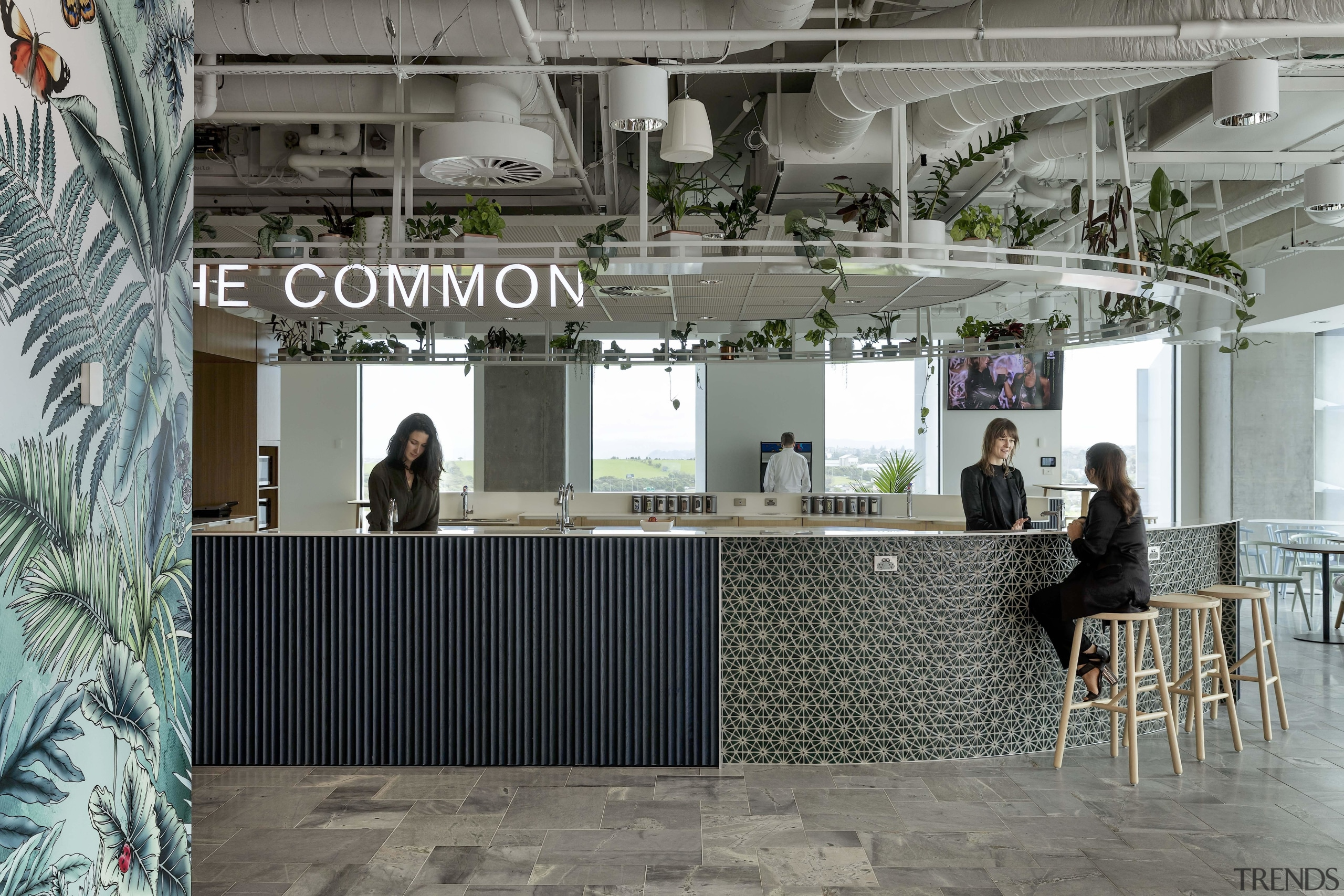 """""""The Common"""" is a large, central social hub gray"""