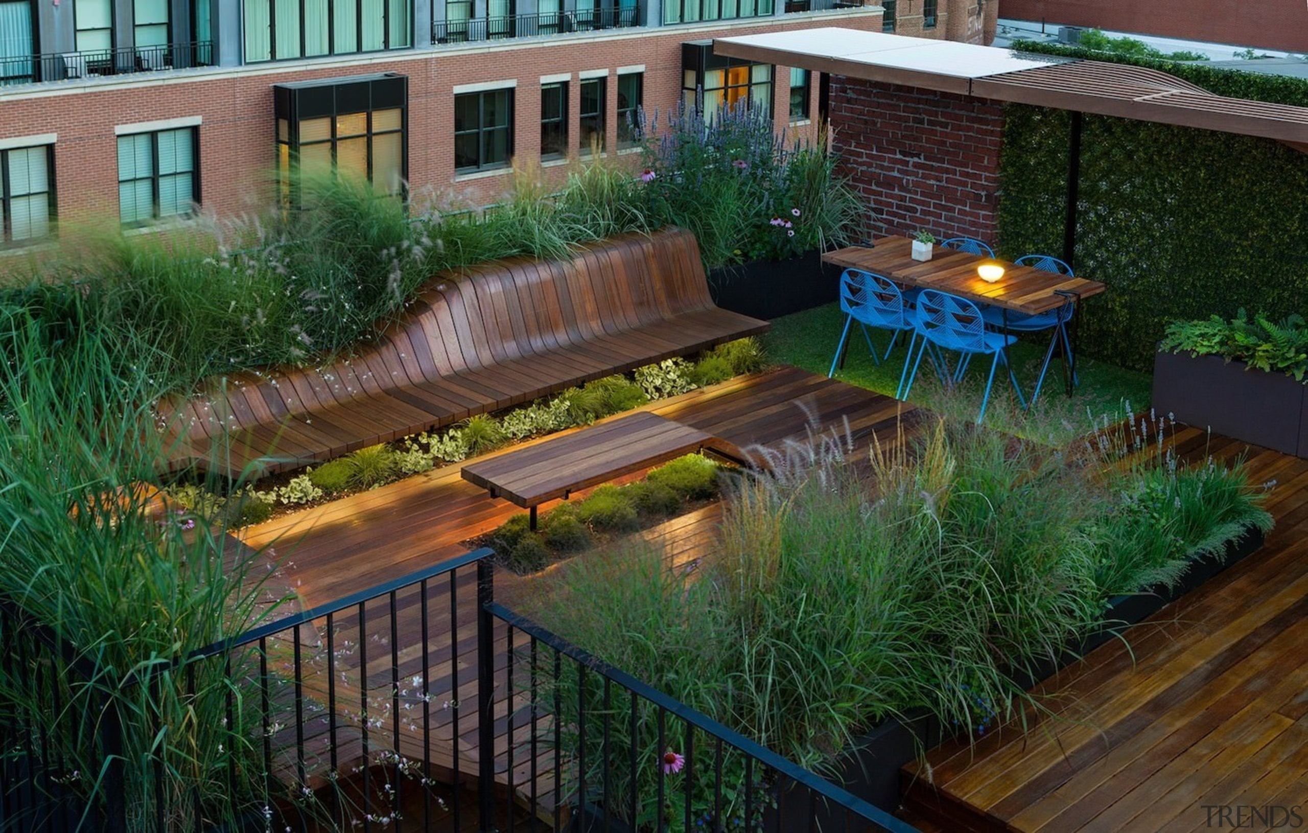 Architect: J.Roc Design backyard, courtyard, garden, grass, landscape, landscaping, lighting, outdoor structure, plant, pond, walkway, water, yard, green, black