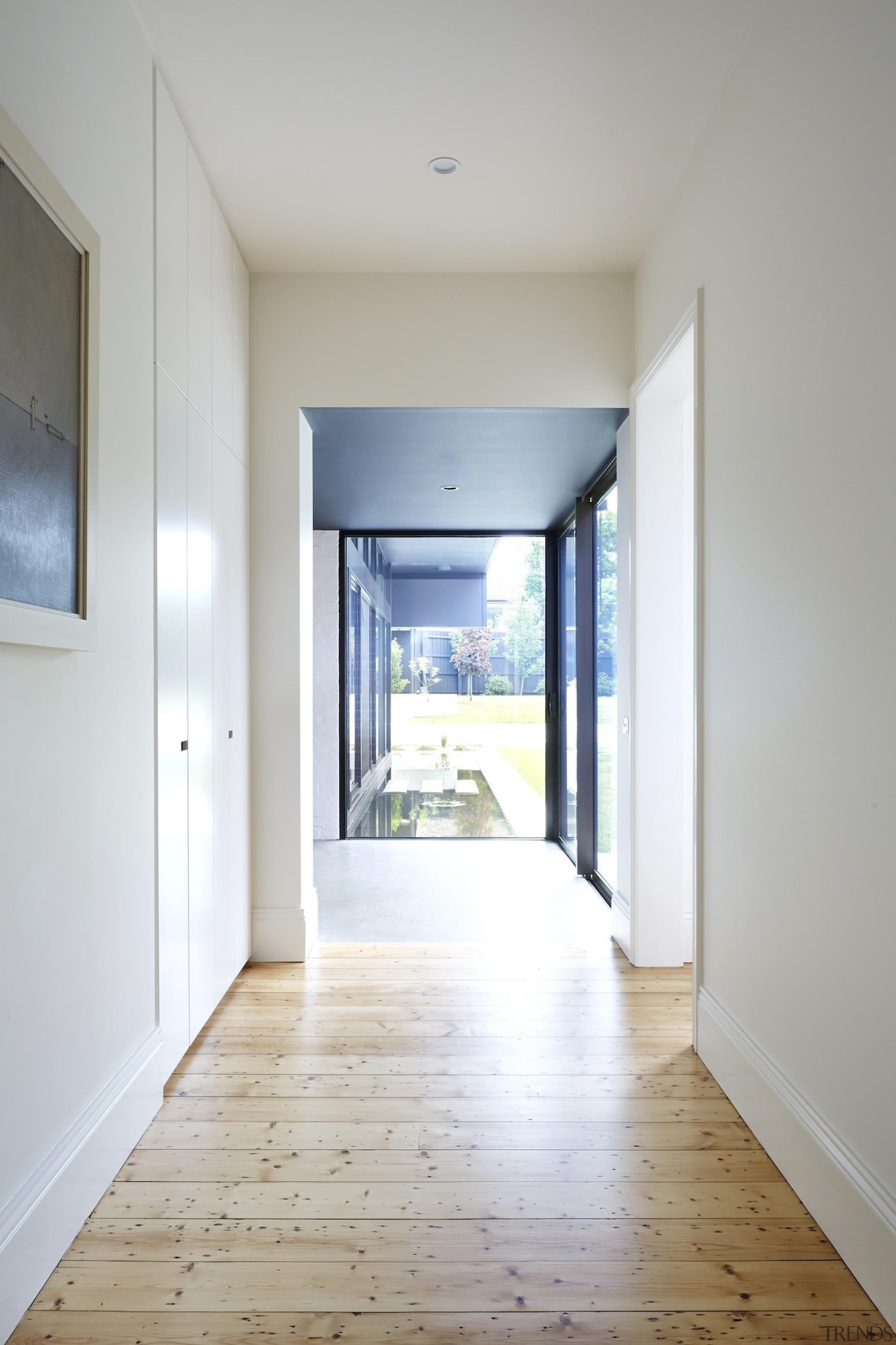 Architect: Nic Owen ArchitectsPhotography by Christine apartment, daylighting, door, estate, floor, flooring, hardwood, home, house, interior design, laminate flooring, property, real estate, room, window, wood, wood flooring, gray, white