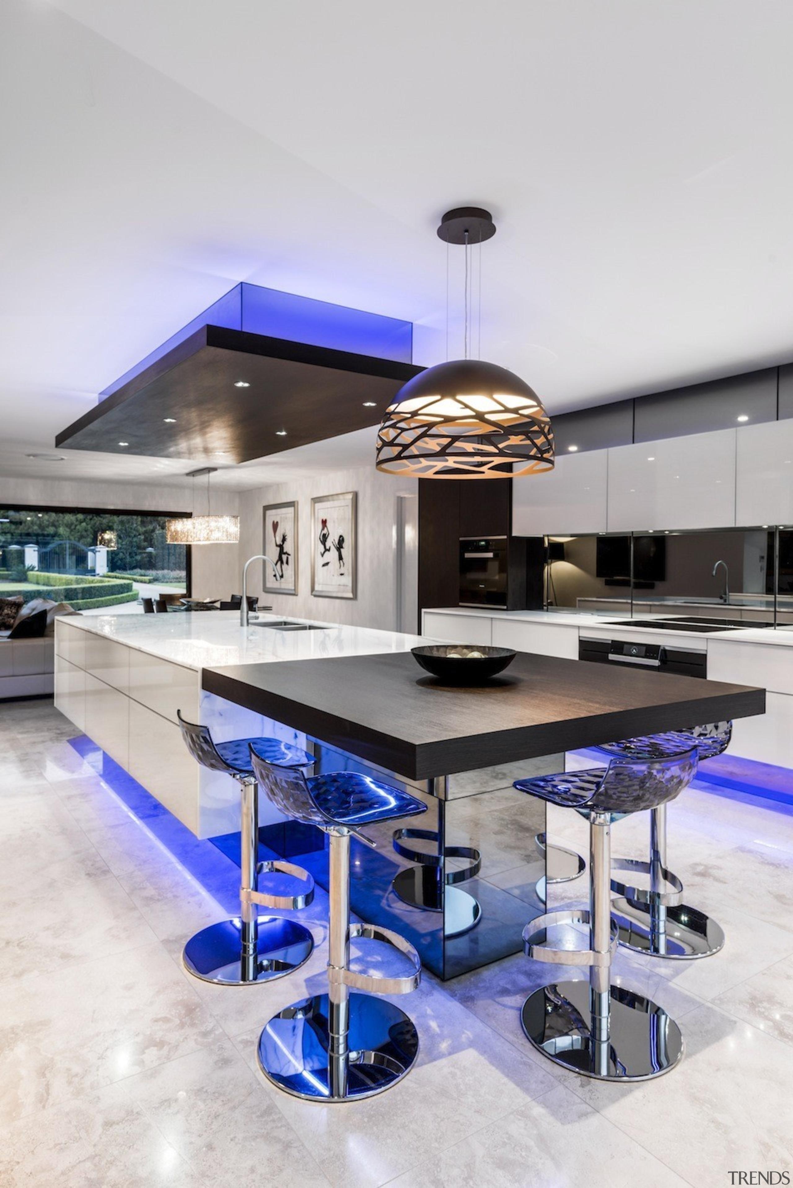 A focus on lighting – Kitchen by designer countertop, furniture, interior design, kitchen, product design, table, white