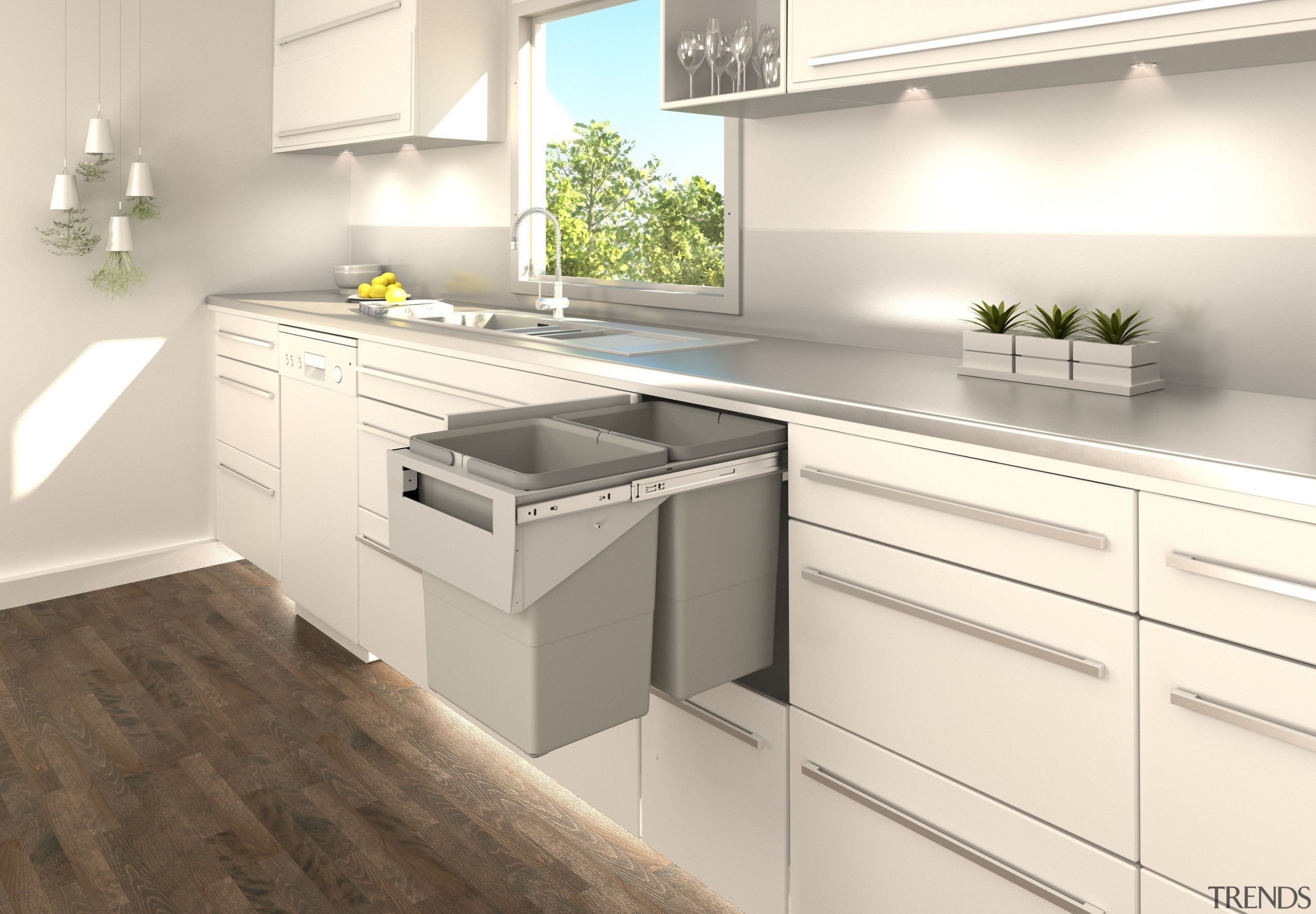 Our top selling pull out kitchen bin range, cabinetry, countertop, cuisine classique, floor, interior design, kitchen, white