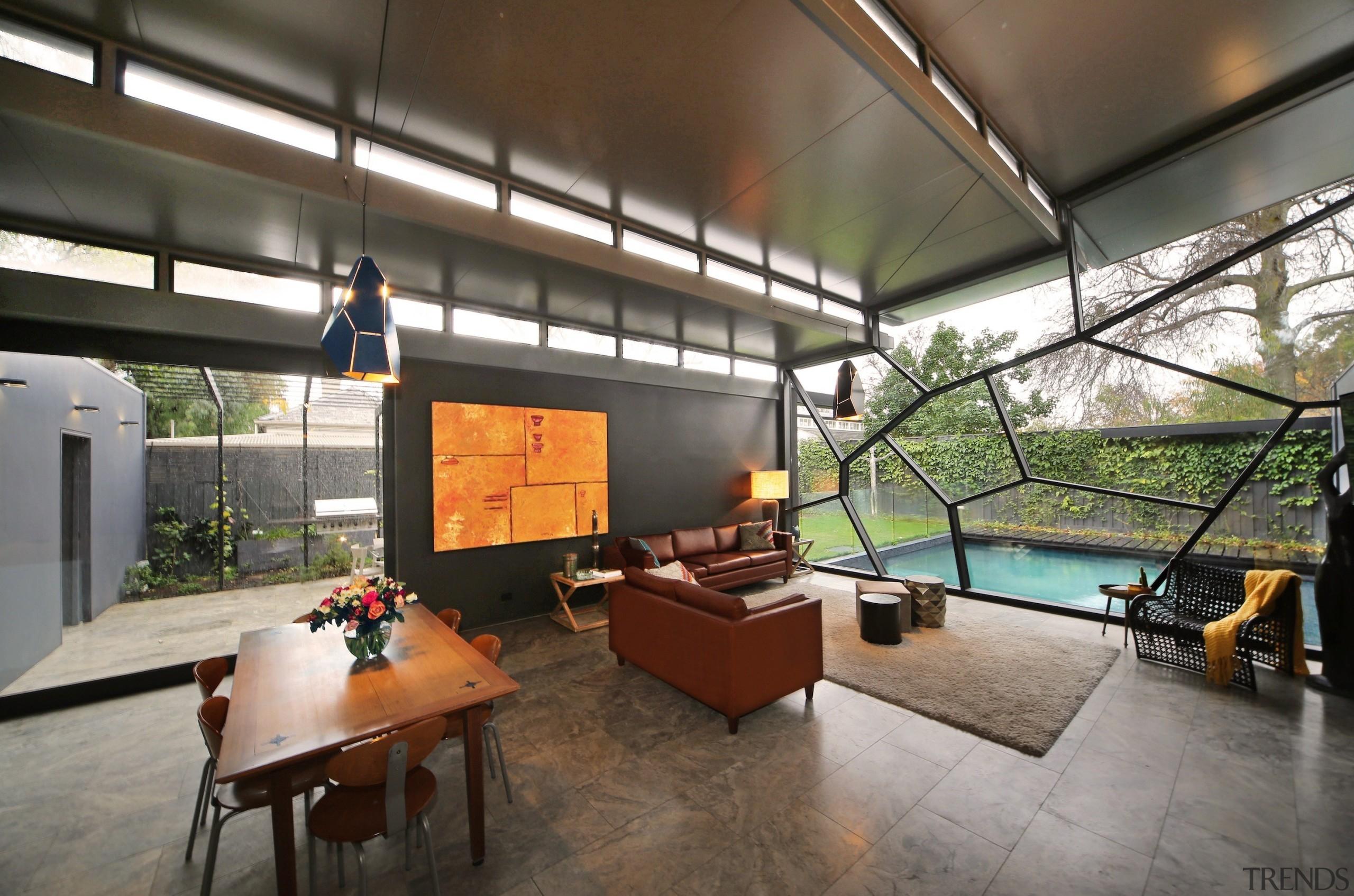 Rossetti Architects - Winner – 2016 TIDA Australian architecture, ceiling, house, interior design, lobby, loft, real estate, gray, brown