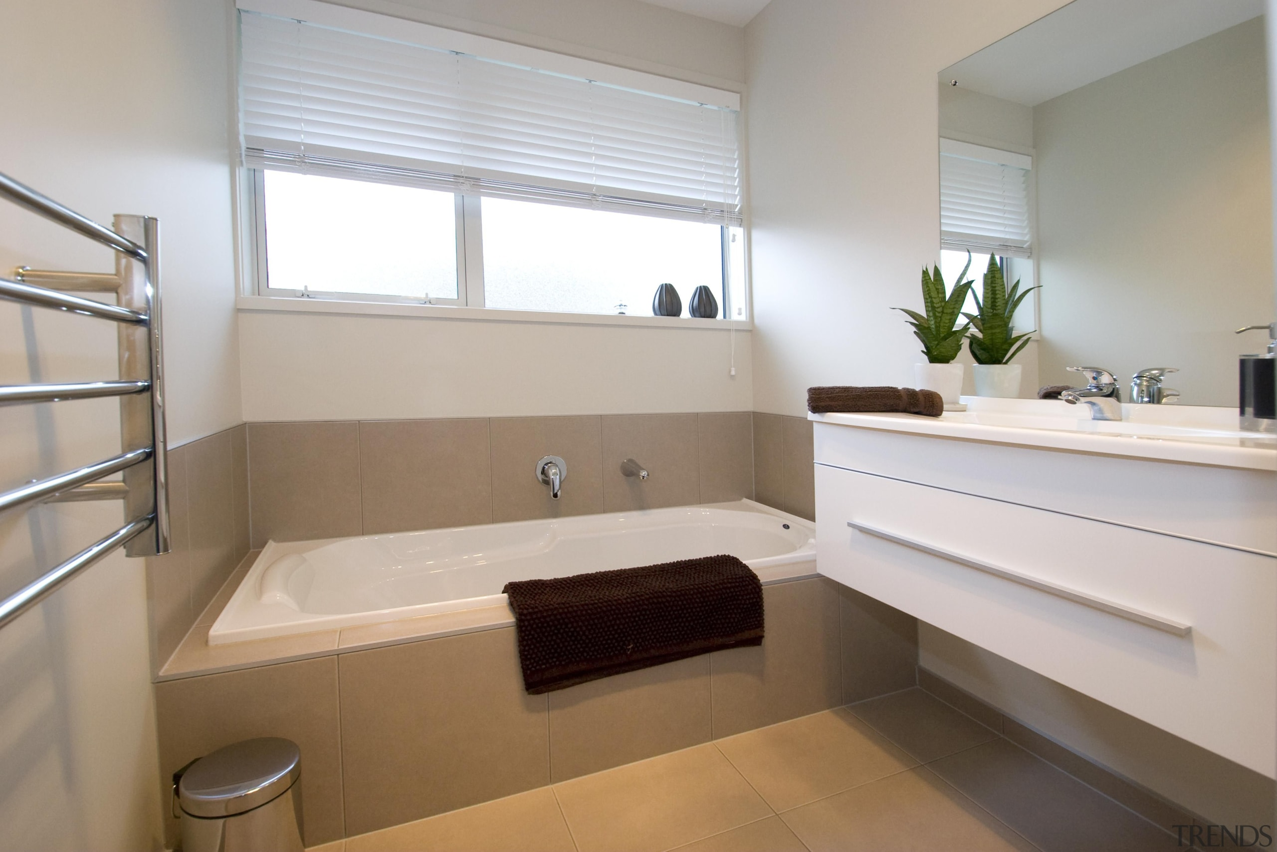Bathroom ErhlerFor more information, please visit www.gjgardner.co.nz bathroom, floor, home, interior design, property, room, sink, window, gray