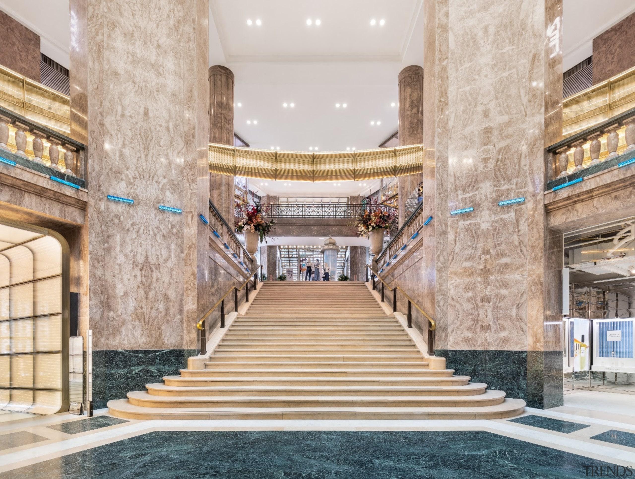 Photo by Delfino Sisto Legnani and Marco Cappelletti architecture, building, column, floor, interior design, lobby, room, stairs, gray