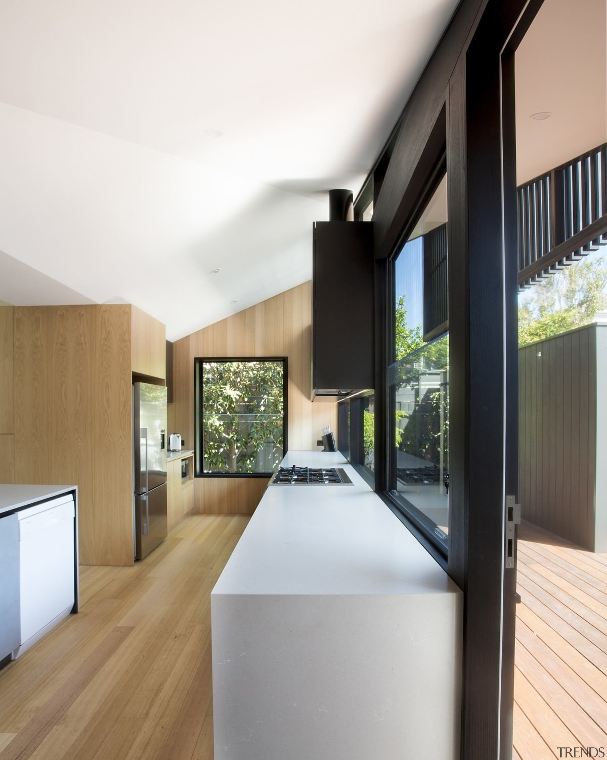 Substantial windows mean plenty of light in the architecture, daylighting, house, interior design, real estate, window, white