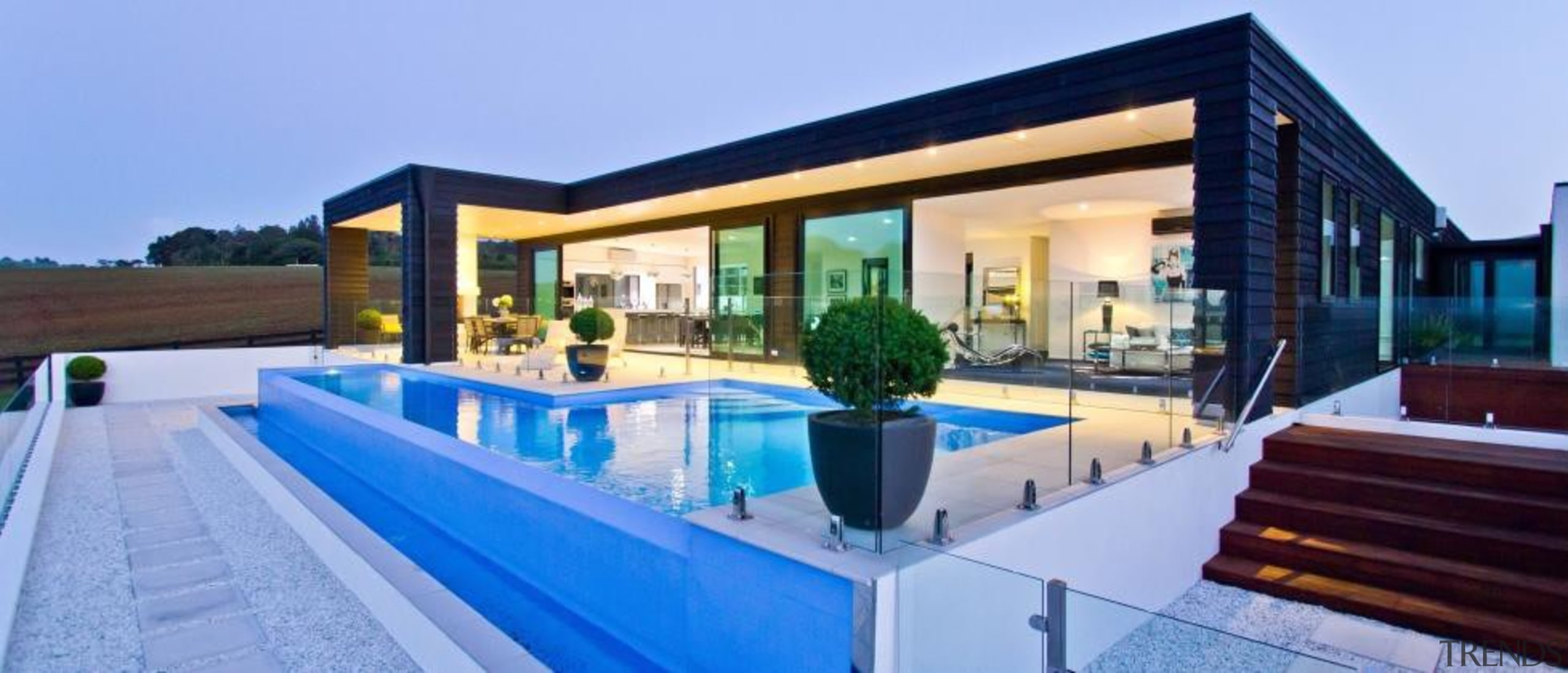 A contemporary house design by Design House Architecture architecture, estate, home, house, leisure, property, real estate, resort, swimming pool, villa, teal