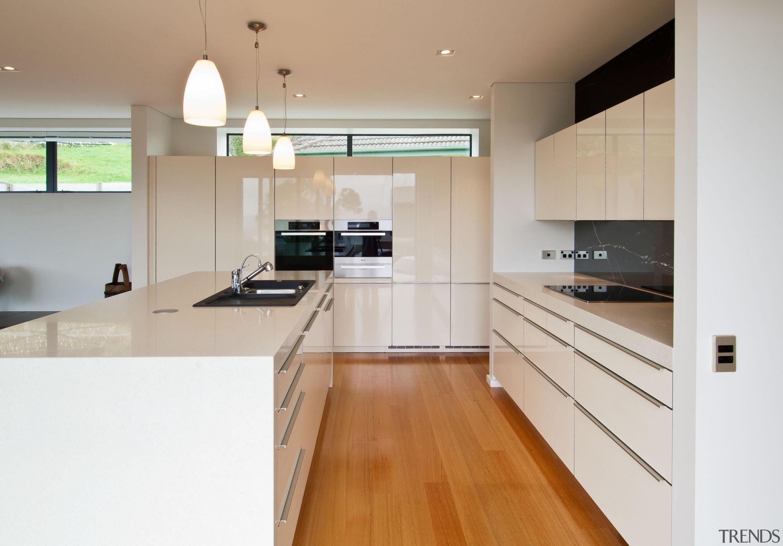 Khandallah Kitchen - Khandallah Kitchen - cabinetry | cabinetry, countertop, cuisine classique, floor, flooring, hardwood, interior design, kitchen, real estate, room, wood flooring, gray