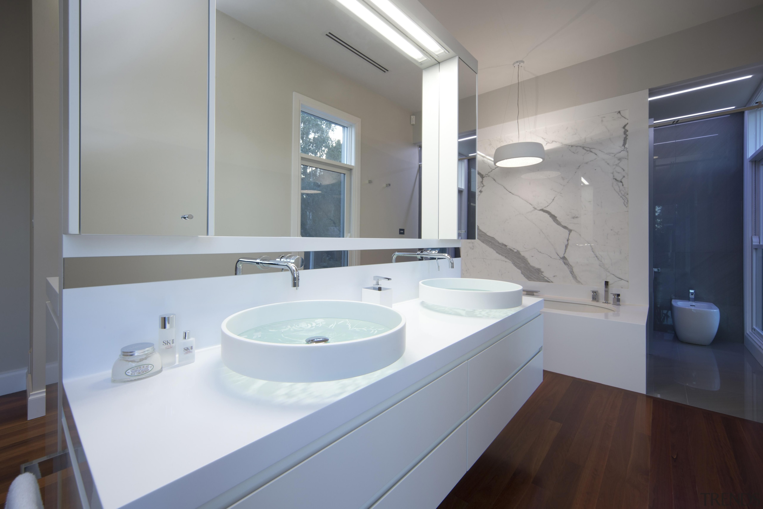 Winner Bathroom of the Year ACT Sthn NSW architecture, bathroom, bathroom accessory, bathroom cabinet, countertop, home, interior design, property, room, sink, gray