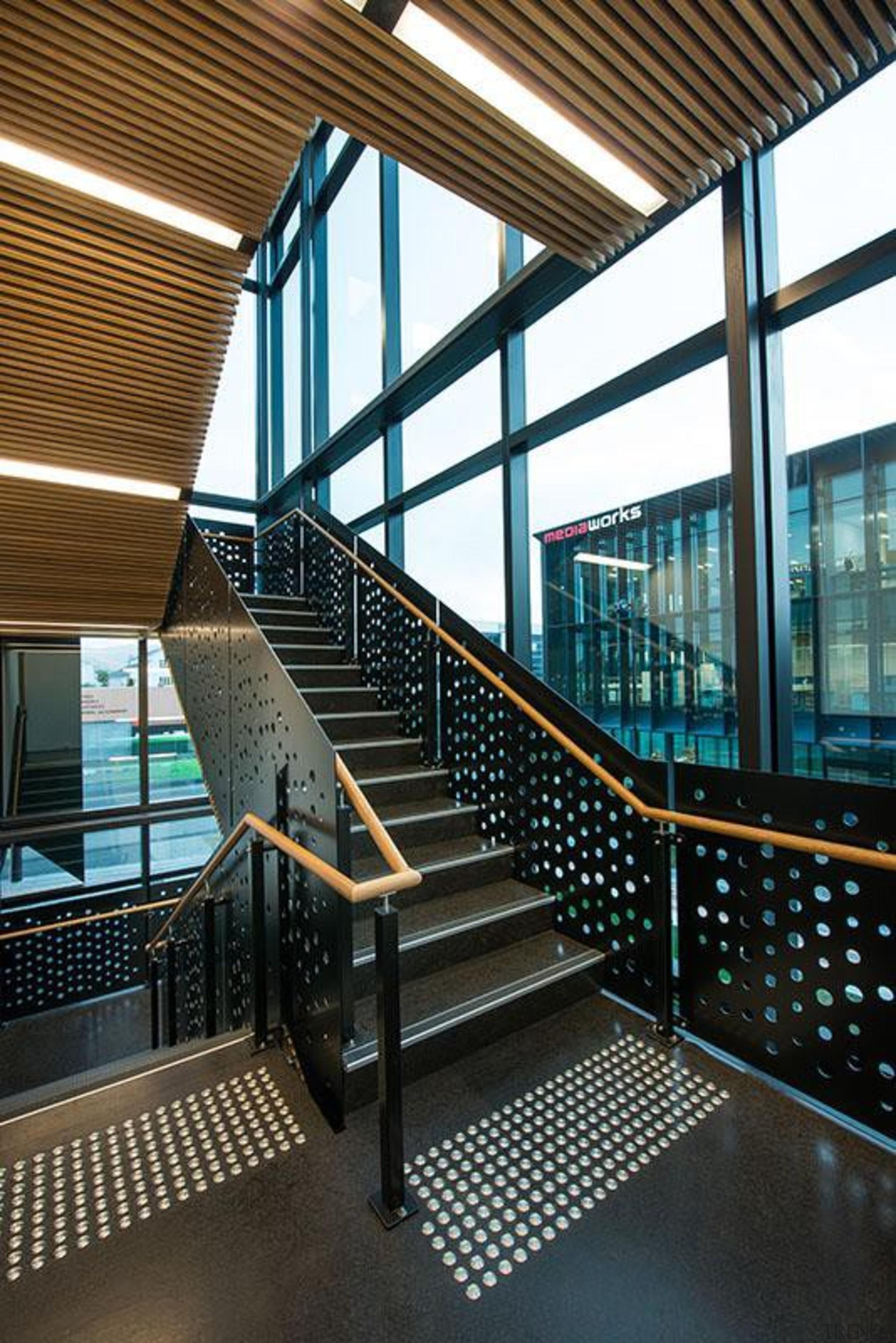 MERIT WINNERThree35 (4 of 4) - Hays Commercial architecture, building, condominium, daylighting, glass, handrail, metropolitan area, stairs, structure, window, black