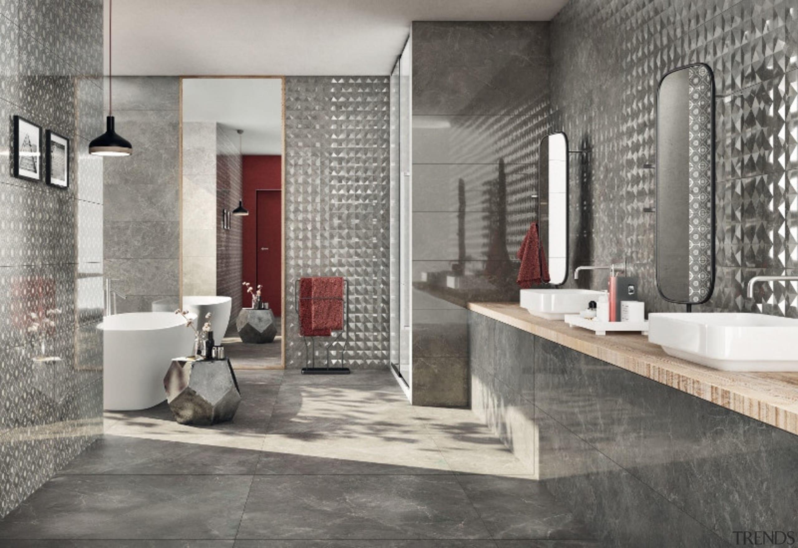 Trilogy Sandy Grey - Trilogy Sandy Grey - bathroom, floor, flooring, interior design, room, tile, wall, gray