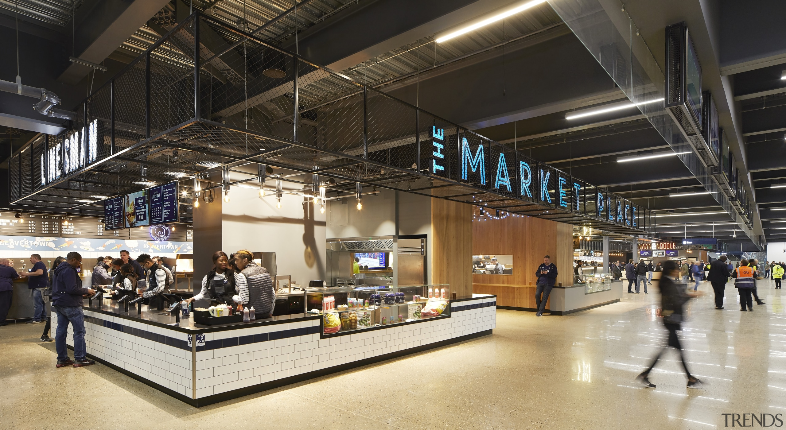 The provision of a market place linked to airport, airport terminal, architecture, building, infrastructure, interior design, black