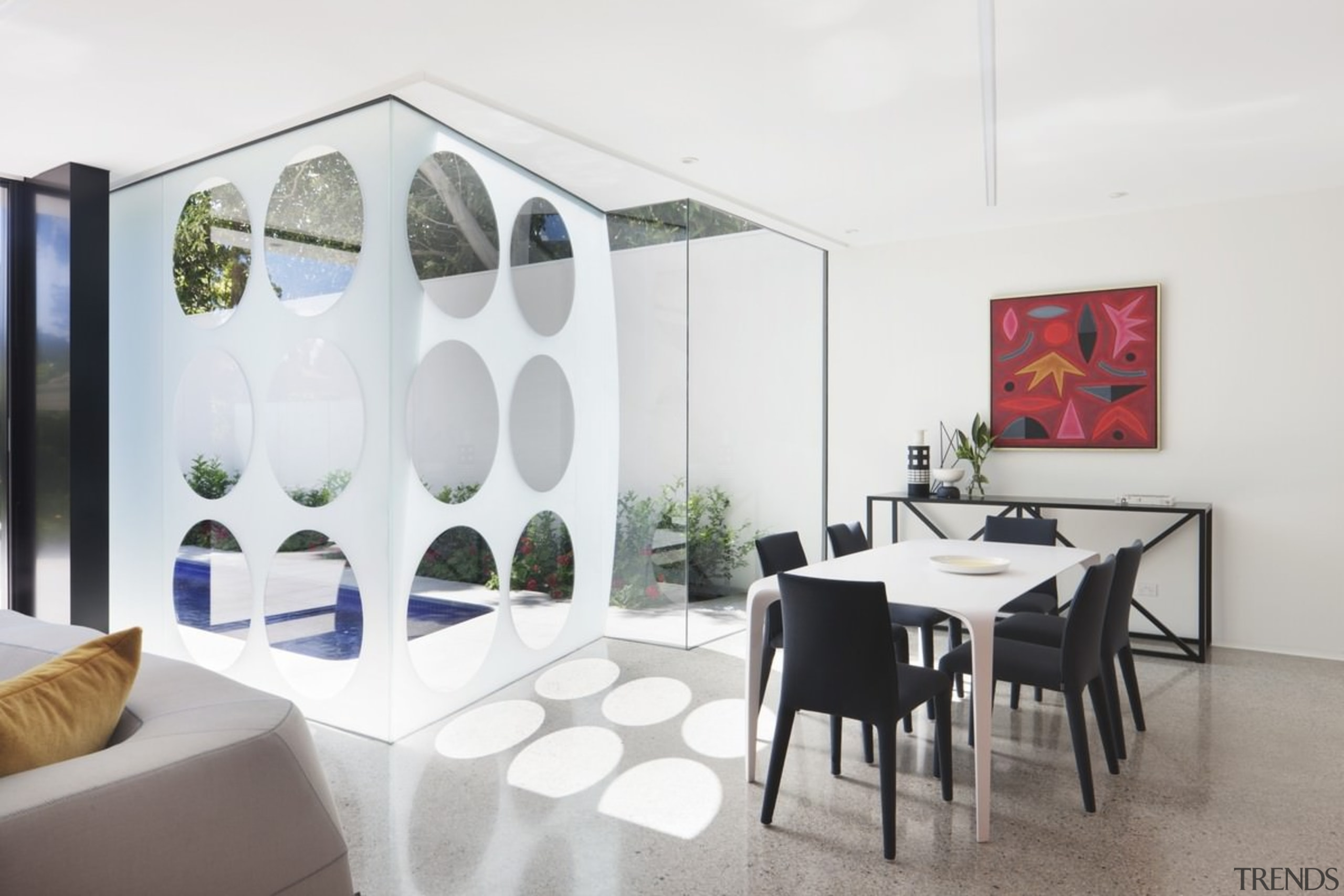 Architect: Gray PuksandPhotography by Shannon McGrath interior design, product design, property, real estate, table, white