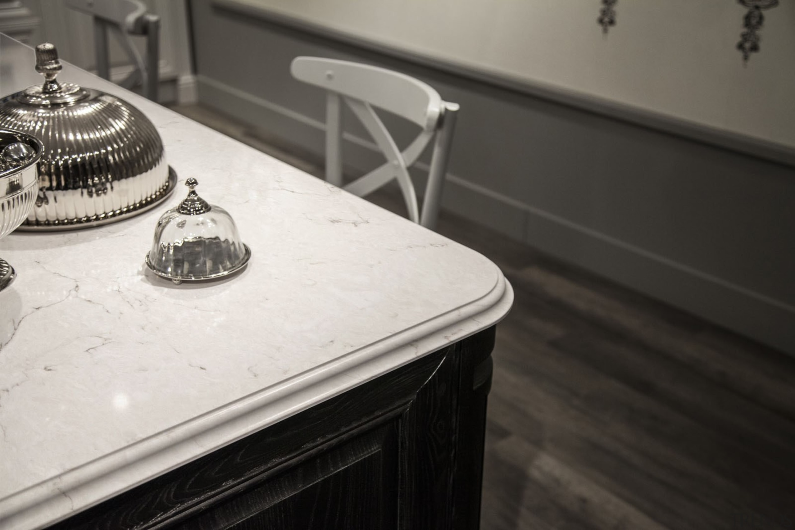 Snowy Ibiza - Kichen Detail  - Snowy black and white, countertop, floor, flooring, furniture, interior design, table, black, white