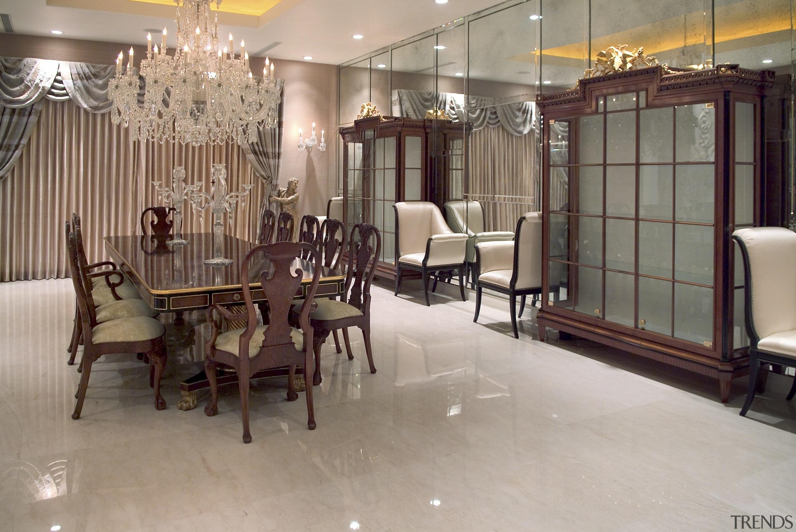 Dining Room - Dining Room - dining room dining room, floor, flooring, furniture, interior design, lobby, room, gray