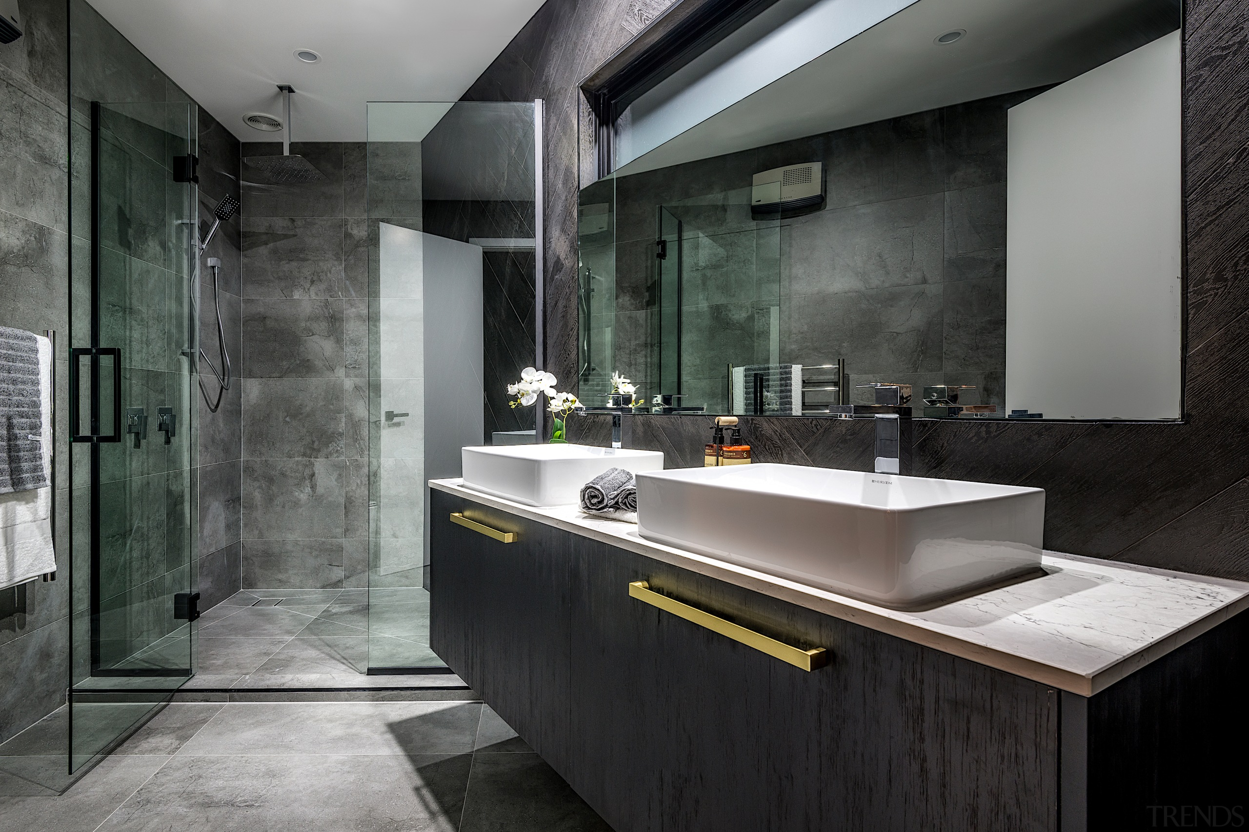 A clever layout and dramatic palette has been