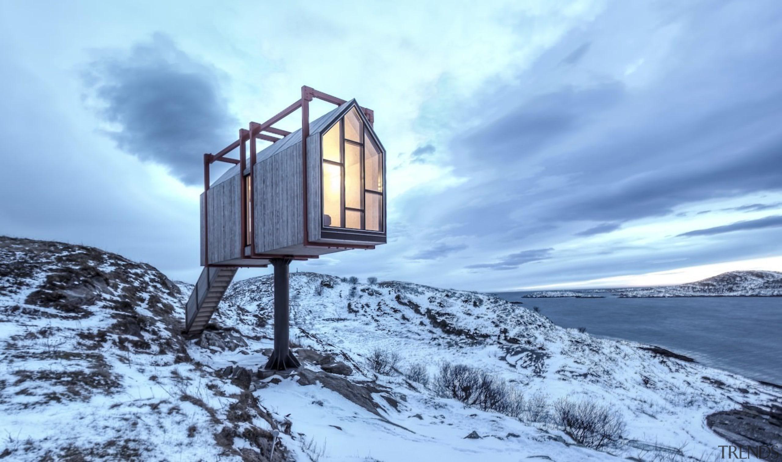 Architect: TYIN tegnestue ArchitectsPhotographer: Pasi Aalto / arctic, cloud, freezing, mountain, mountain range, sky, snow, winter, teal