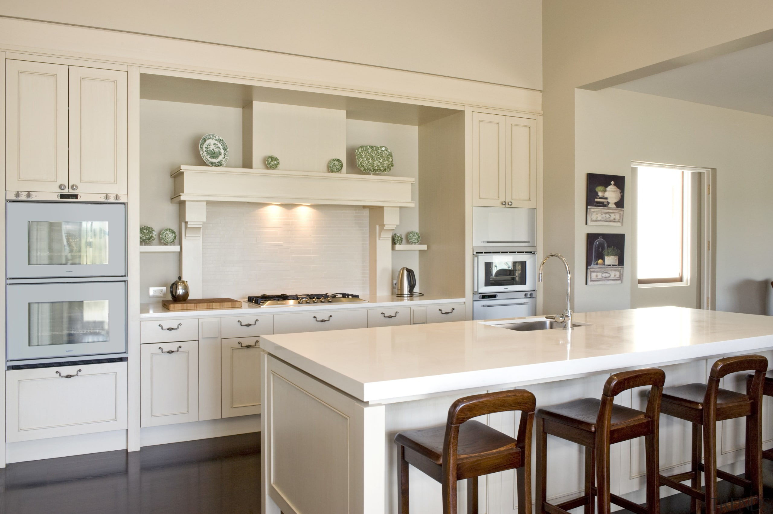 Image of the kitchen designed by Fyfe kitchens cabinetry, countertop, cuisine classique, home, interior design, kitchen, real estate, room, gray