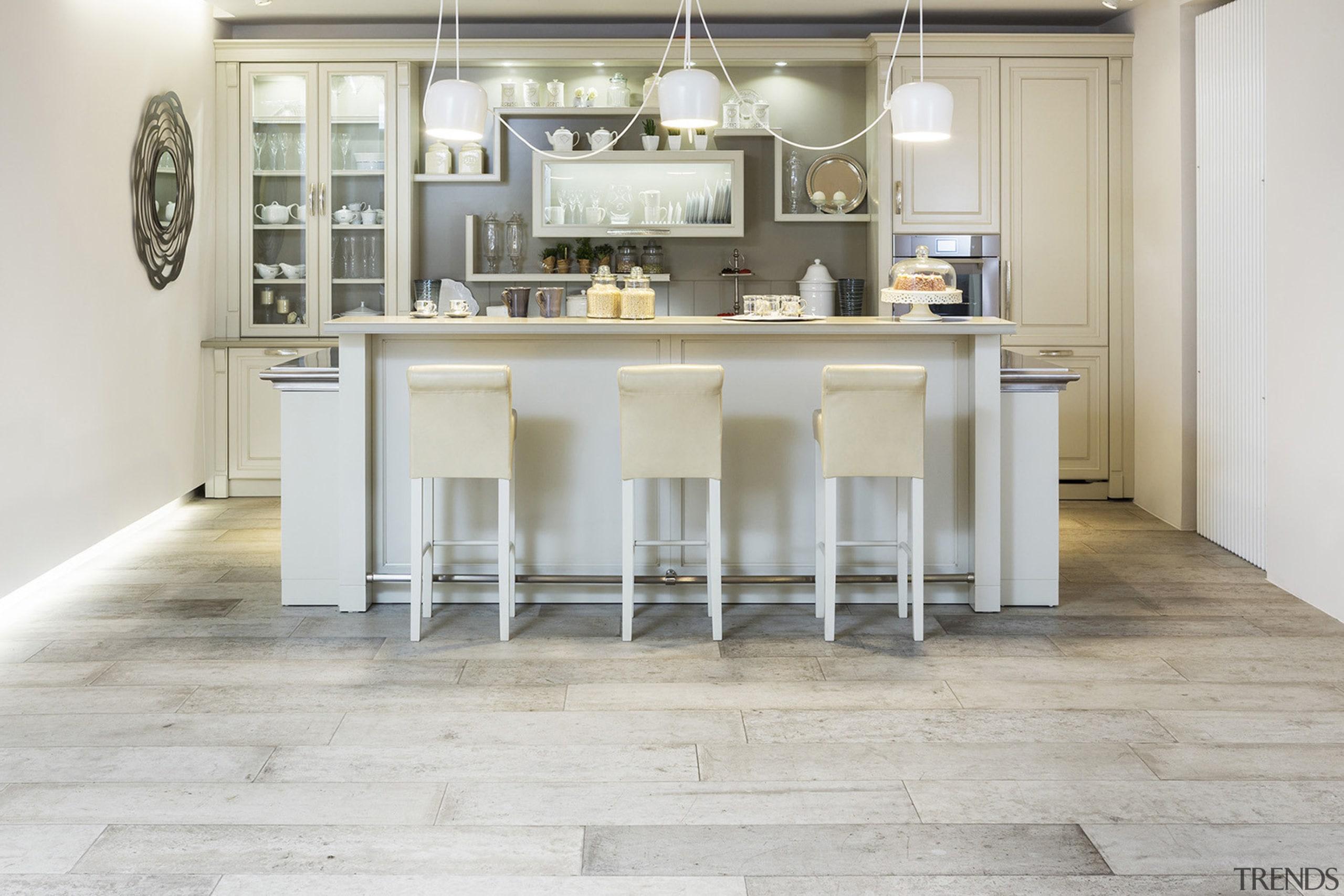 Circle kitchen - Circle kitchen - cuisine classique cuisine classique, floor, flooring, furniture, hardwood, interior design, kitchen, laminate flooring, table, tile, wood, wood flooring, gray, white