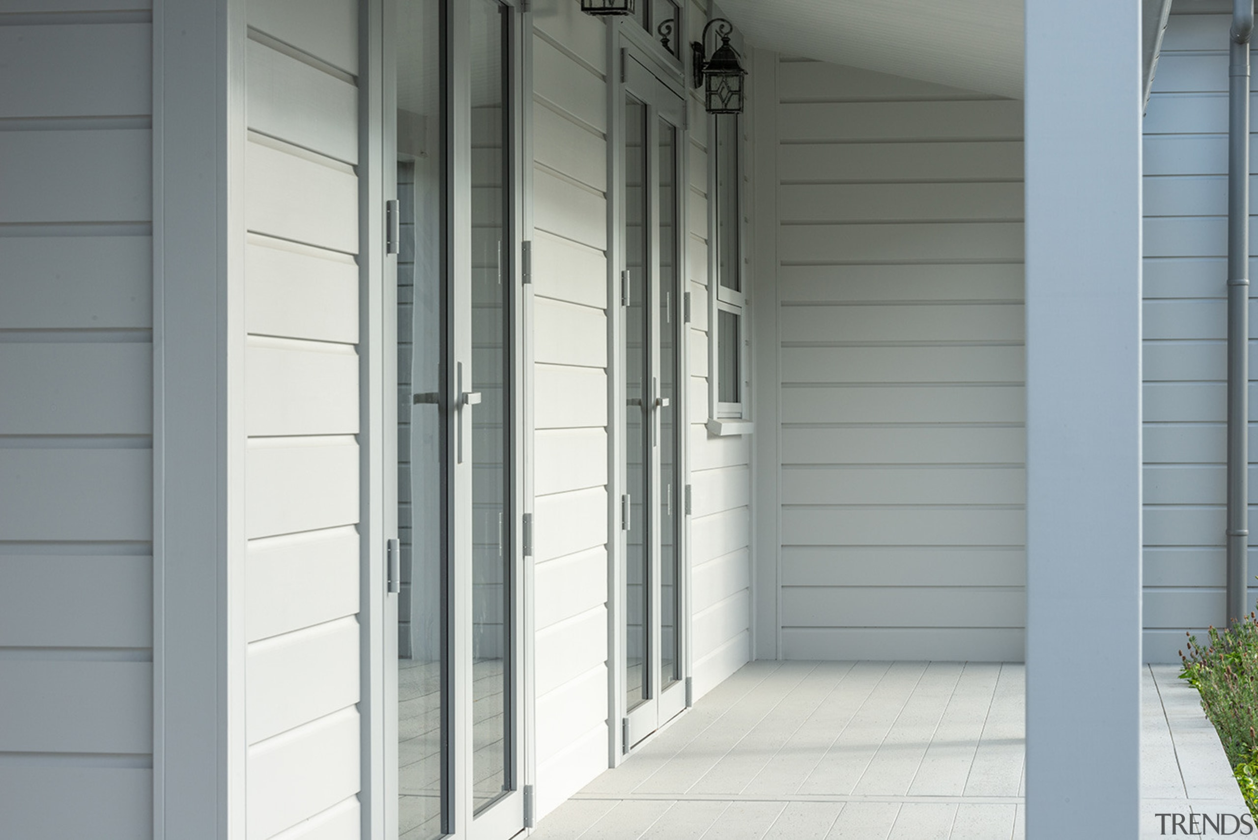 Laminated Timber Verandah Post Made By Niagara - architecture, door, facade, home, siding, structure, wall, window, window covering, gray, white