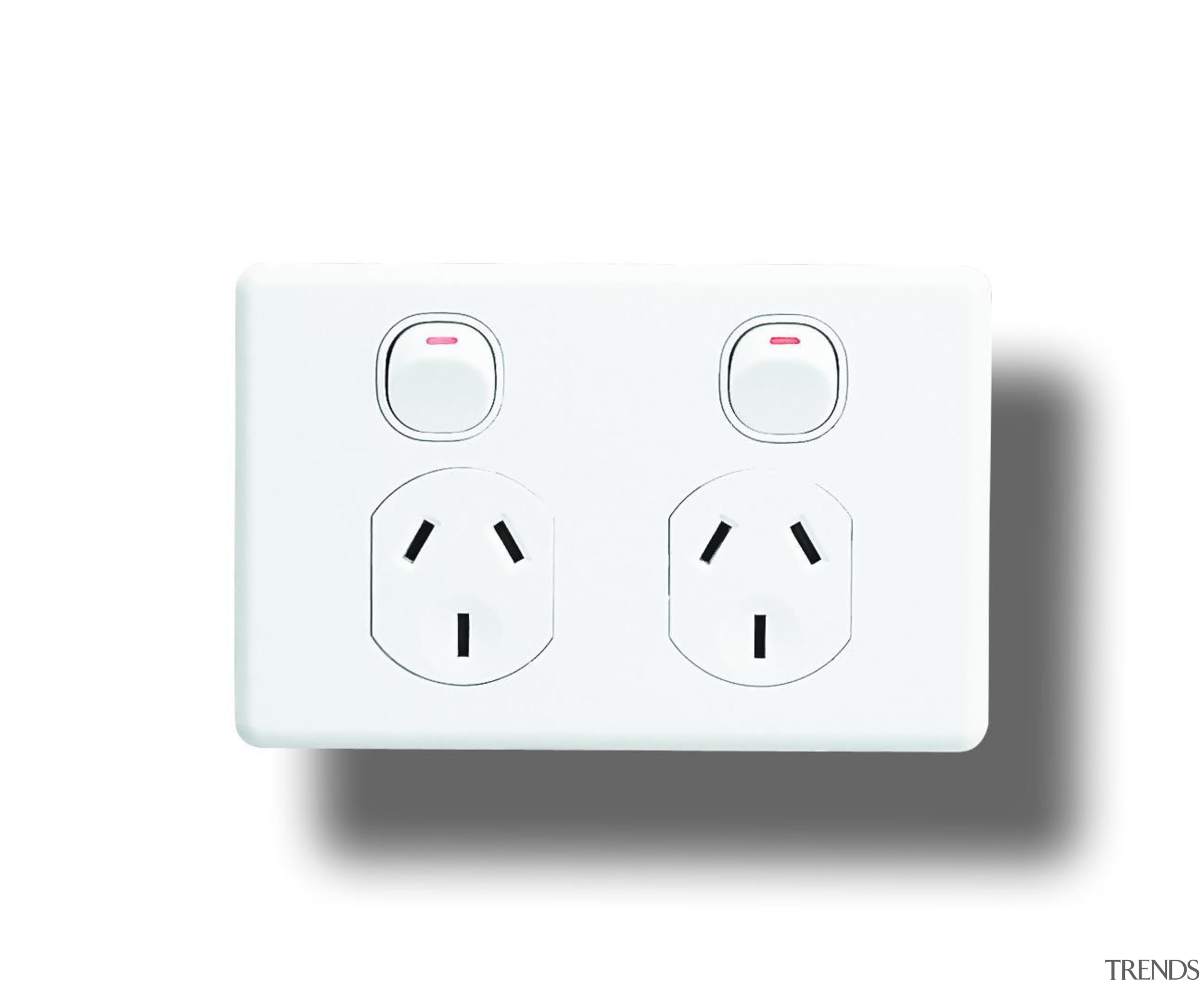 Classic C2000 double socket White - C2025 - ac power plugs and socket outlets, electronic device, electronics accessory, product, technology, white