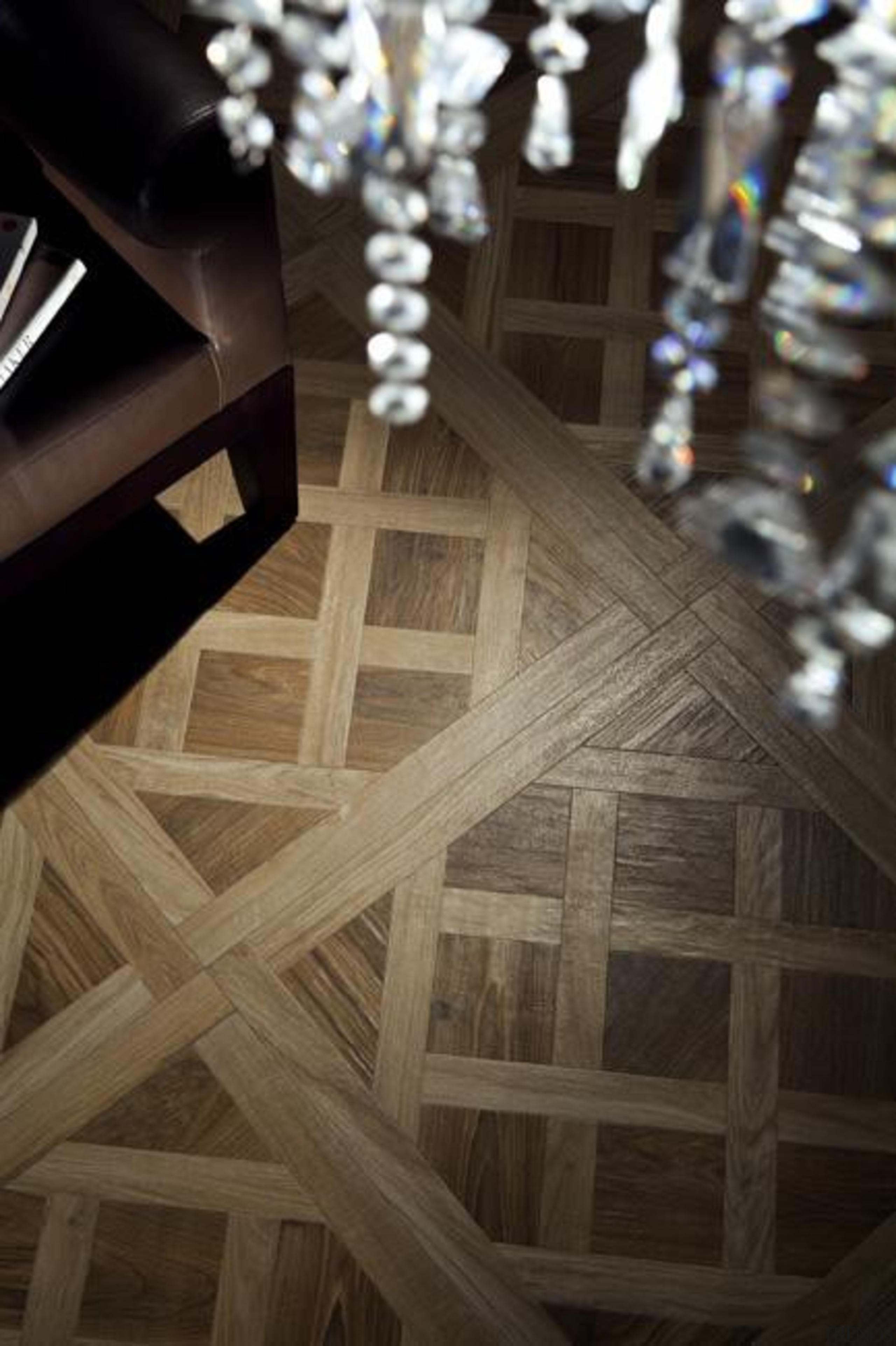 The charm of antique parquet flooring is now floor, flooring, light, lighting, wood, black, brown