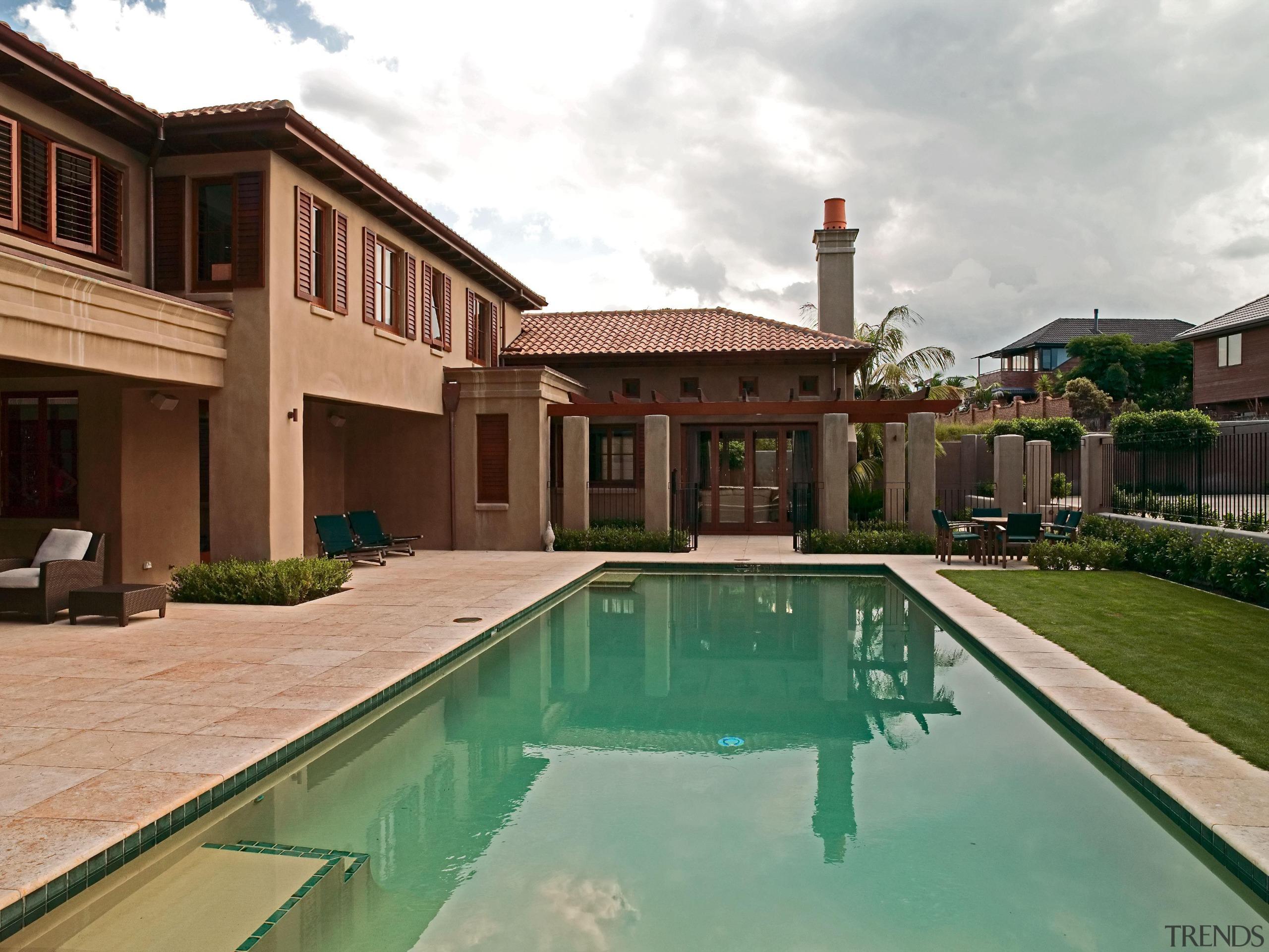139 onetaunga pool - Onetaunga Pool - backyard backyard, estate, hacienda, home, house, mansion, property, real estate, residential area, swimming pool, villa