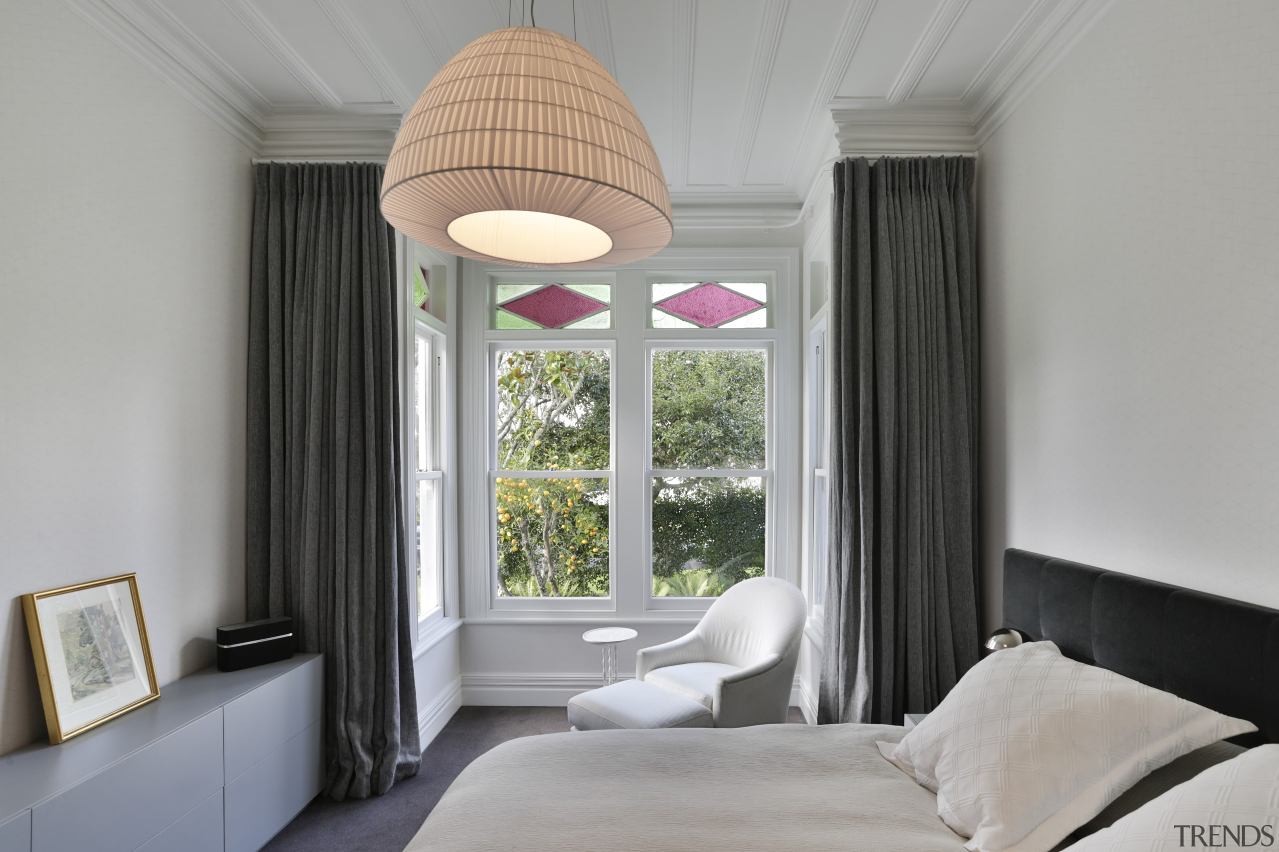 In this villa renovation, classic details were retained architecture, bedroom, ceiling, home, interior design, bedroom, Matt Brew Architect