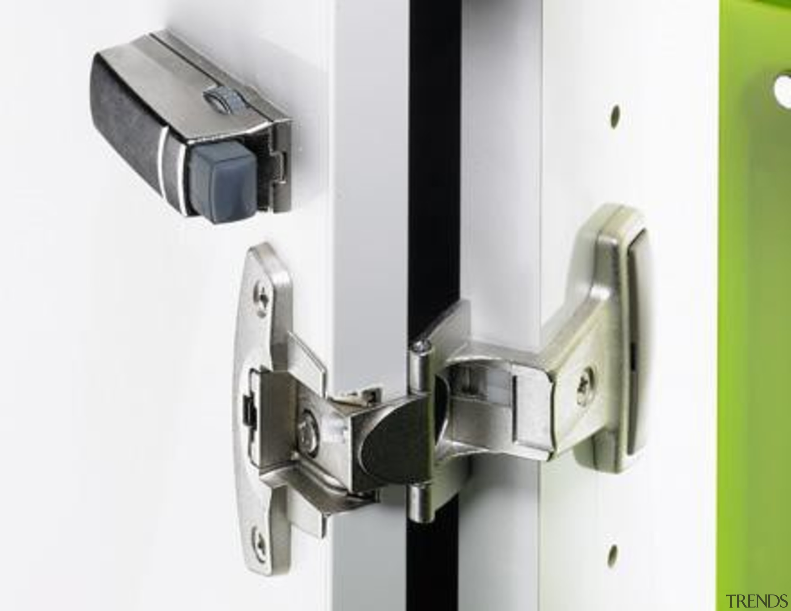 Doors are easy to align, with the optional hardware, hardware accessory, hinge, lock, product, product design, white