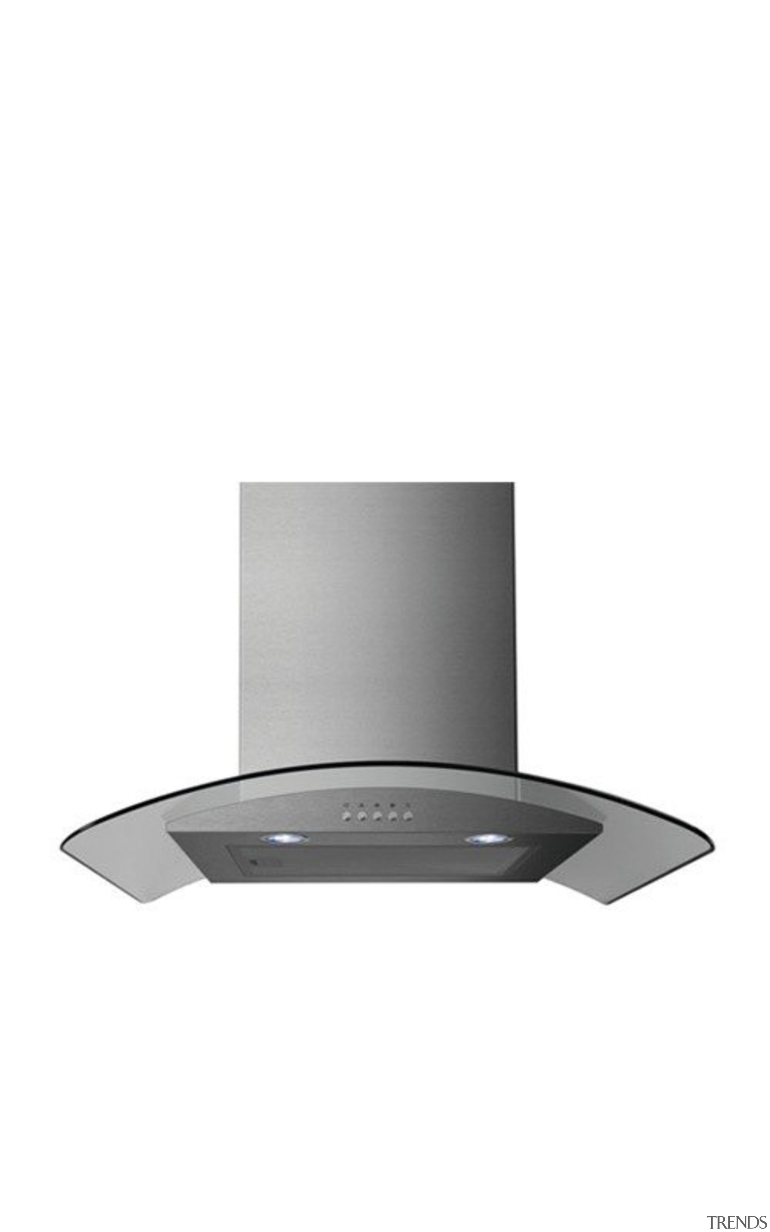 60cm Curved Glass RangehoodGlass + stainless steel, Push angle, kitchen appliance, product, white