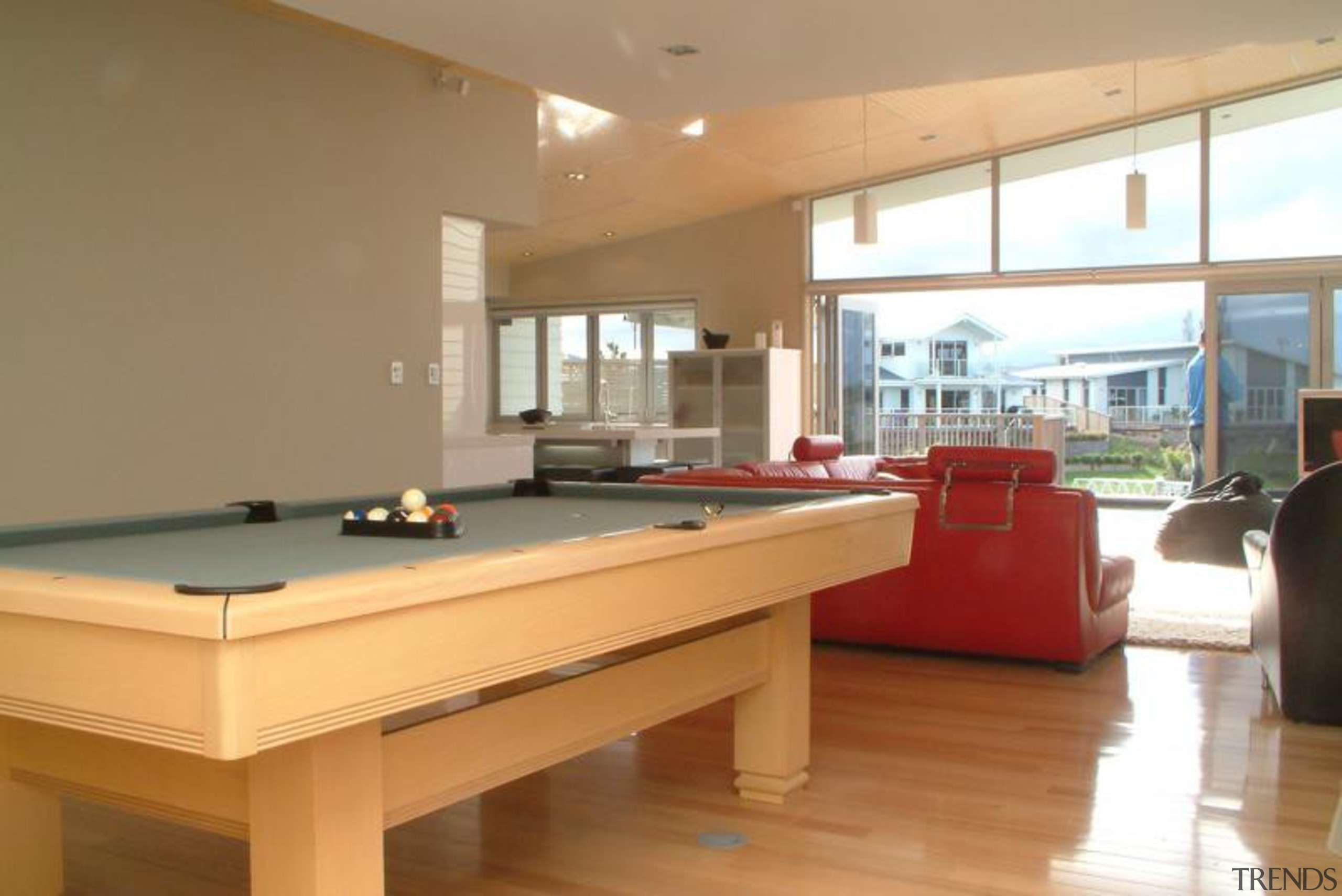 Villaboard Lining - Villaboard Lining 3 - billiard billiard room, billiard table, cue sports, floor, furniture, indoor games and sports, interior design, pool, property, real estate, recreation room, room, table, brown, orange