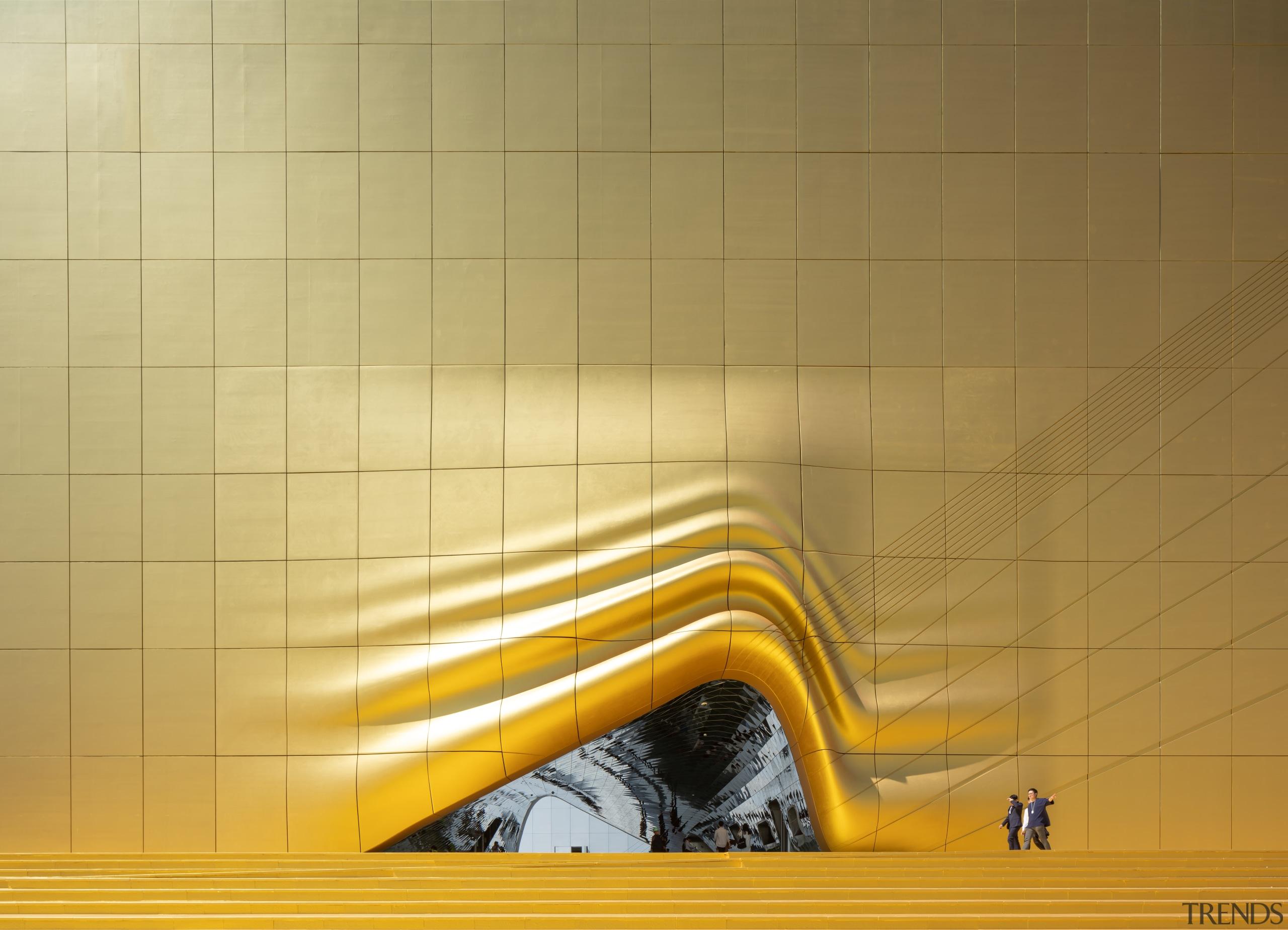 0995 - angle | ceiling | floor | angle, ceiling, floor, flooring, line, tile, wall, yellow, orange, brown