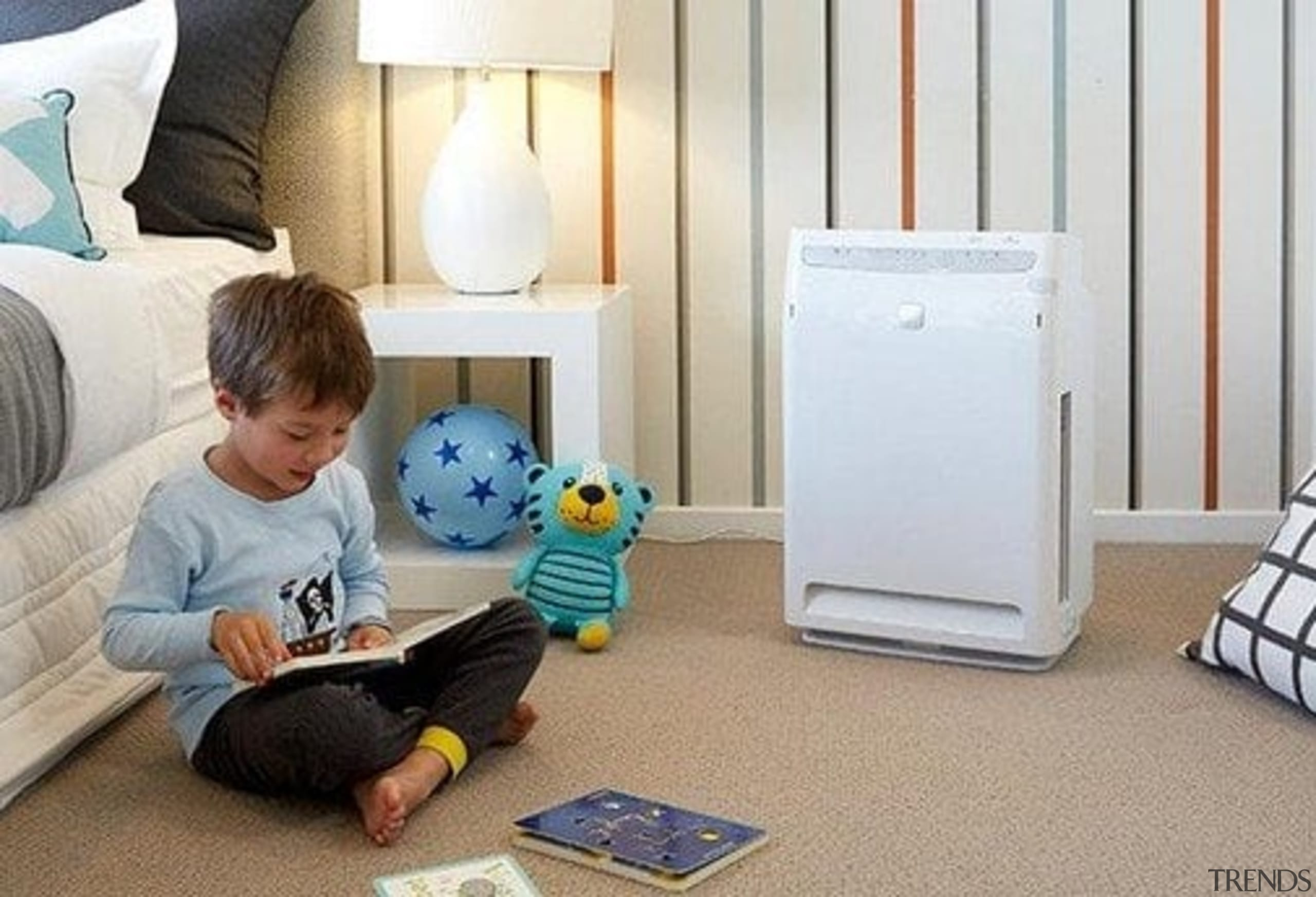 Air Purifiers - baby products   bed   baby products, bed, child, floor, flooring, furniture, nursery, play, product, room, technology, toddler, gray, white